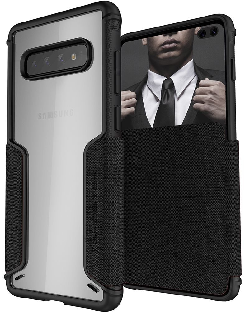 Galaxy S10+ Plus Wallet Case | Exec 3 Series [Black]
