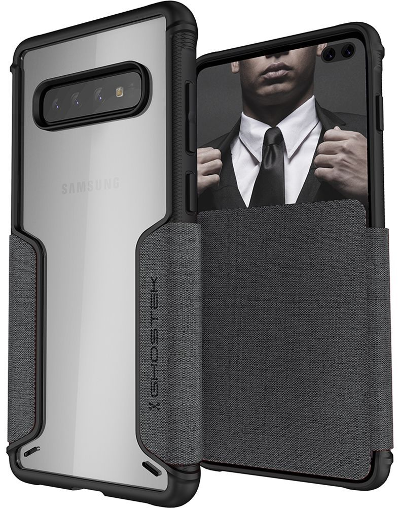 Galaxy S10+ Plus Wallet Case | Exec 3 Series [Grey]