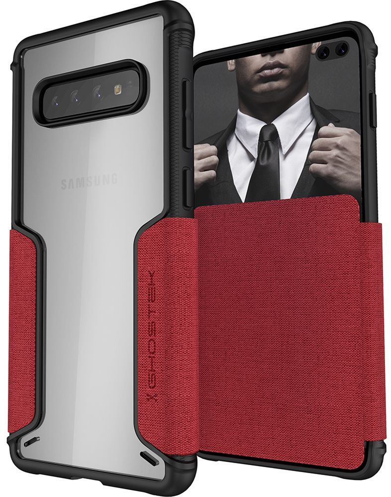 Galaxy S10+ Plus Wallet Case | Exec 3 Series [Red]