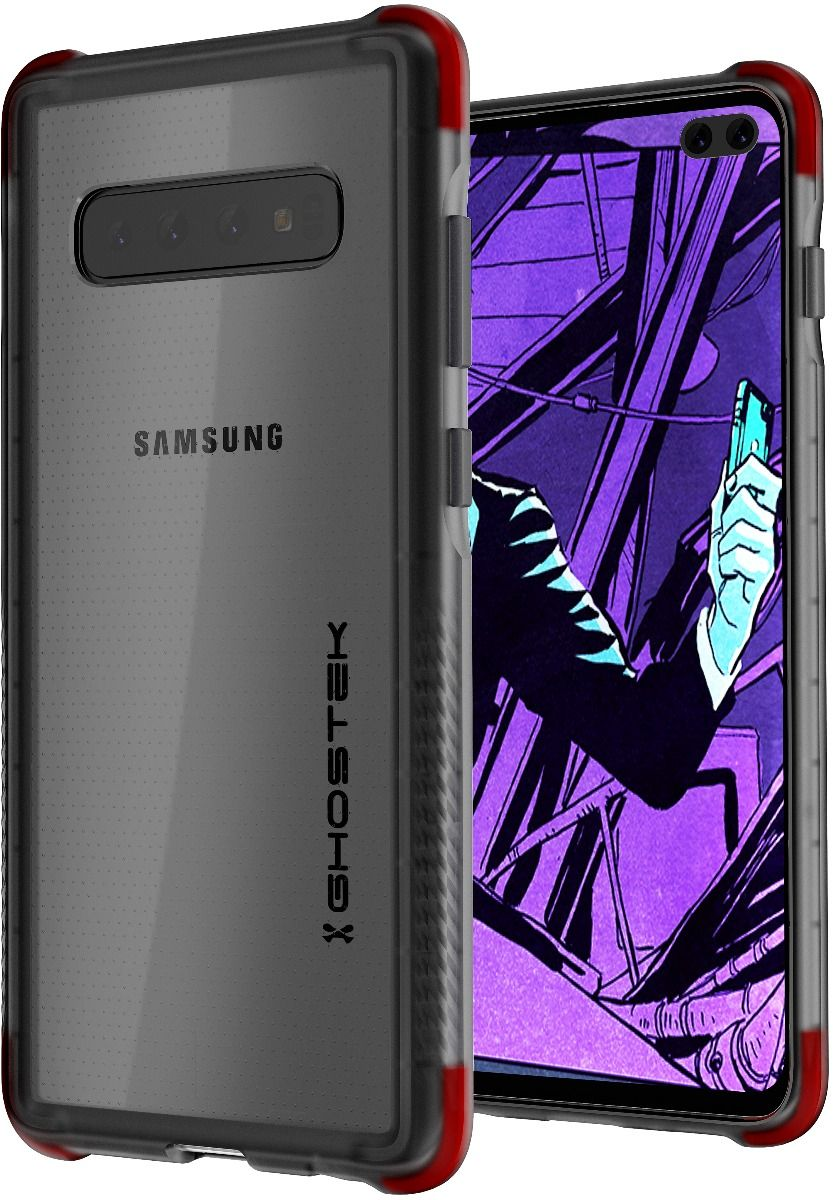 Galaxy S10+ Plus Clear-Back Protective Case | Covert 3 Series [Black]