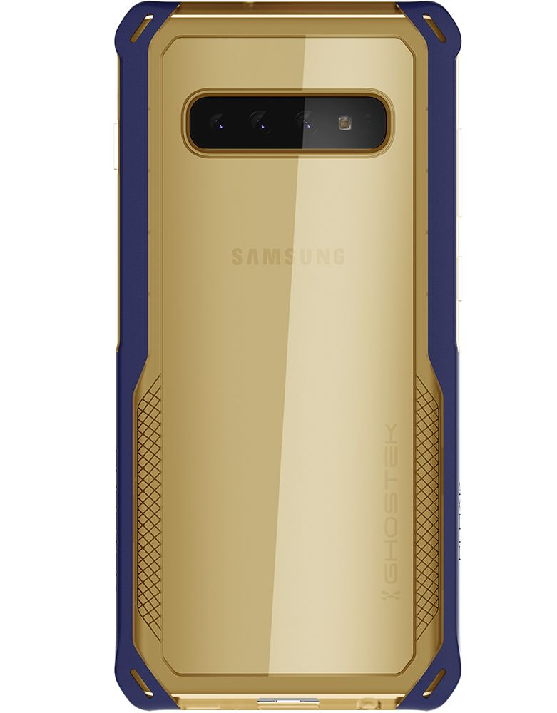 Galaxy S10+ Plus Clear Protective Case | Cloak 4 Series [Blue/Gold]