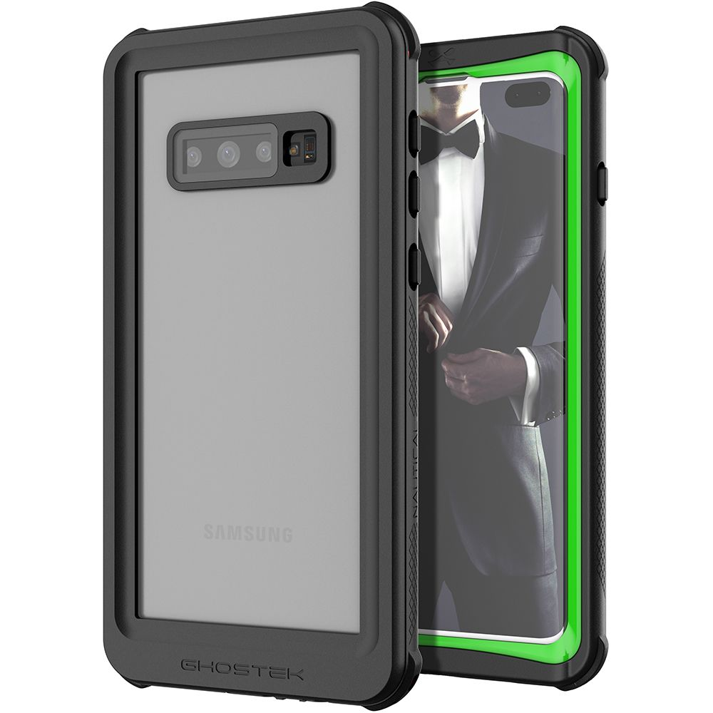 Galaxy S10+ Plus Rugged Waterproof Case | Nautical 2 Series [Green]