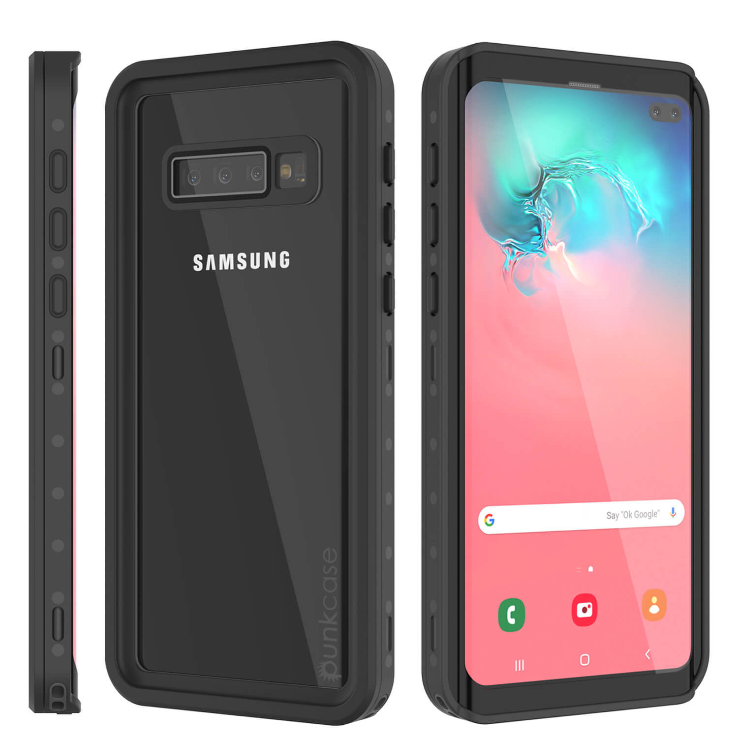 Galaxy S10+ Plus Waterproof Case PunkCase StudStar Clear Thin 6.6ft Underwater IP68 Shock/Snow Proof