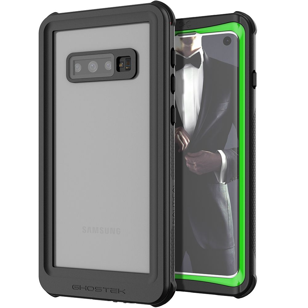 Galaxy S10 Rugged Waterproof Case | Nautical 2 Series [Green]