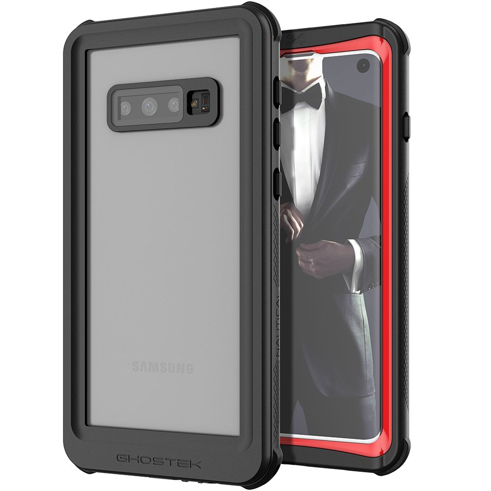 Galaxy S10 Rugged Waterproof Case | Nautical 2 Series [Red]