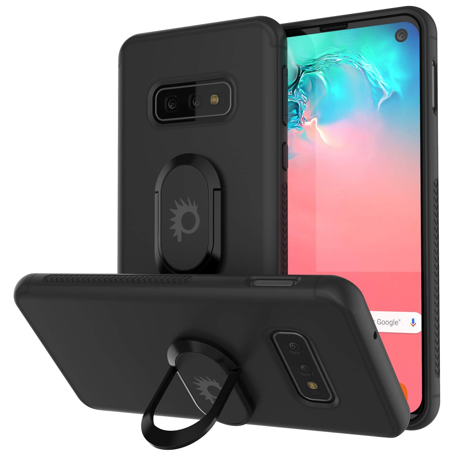 Galaxy S10e Case, Punkcase Magnetix Protective TPU Cover W/ Kickstand, Sceen Protector[Black]