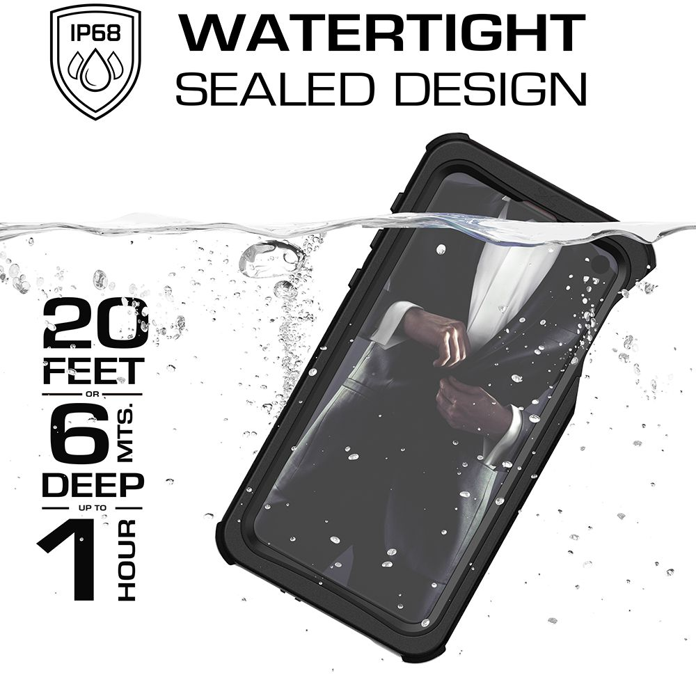 Galaxy S10e Rugged Waterproof Case | Nautical 2 Series [Black]