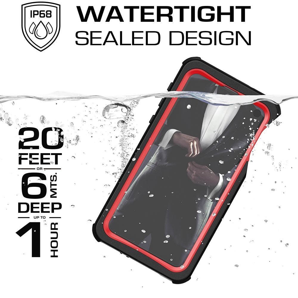 Galaxy S10e Rugged Waterproof Case | Nautical 2 Series [Red]