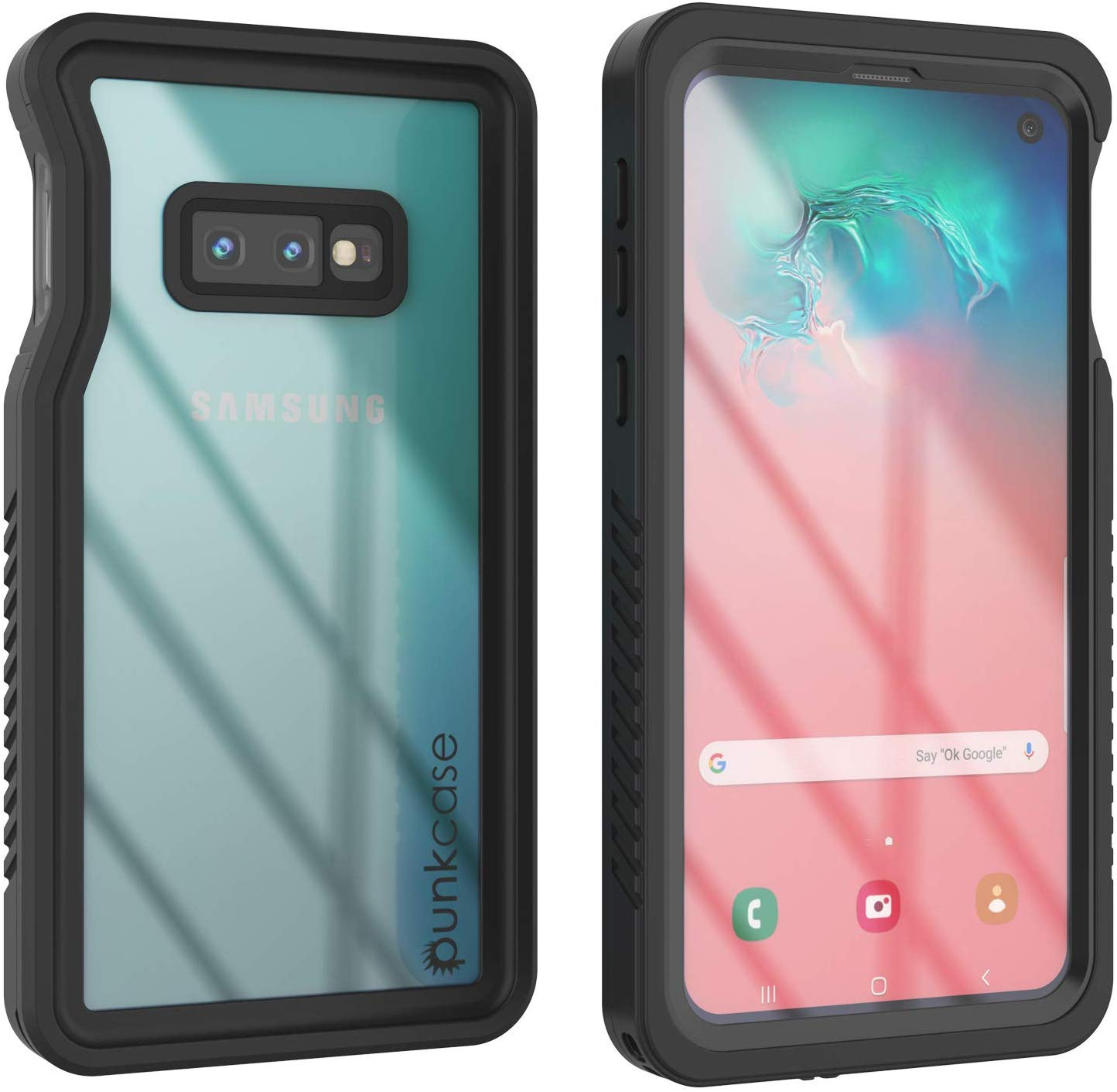 Galaxy S10e Water/Shockproof With Screen Protector Case [Black]