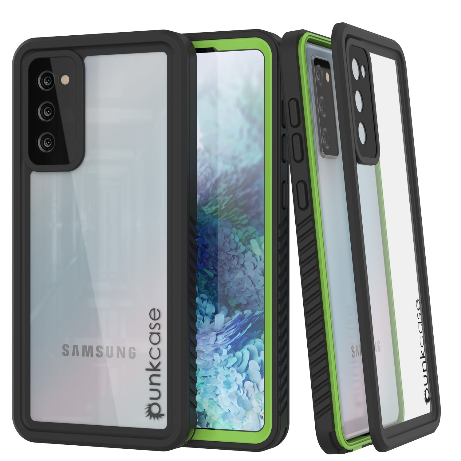 Galaxy S20 FE Water/Shockproof [Extreme Series] Screen Protector Case [Light Green]