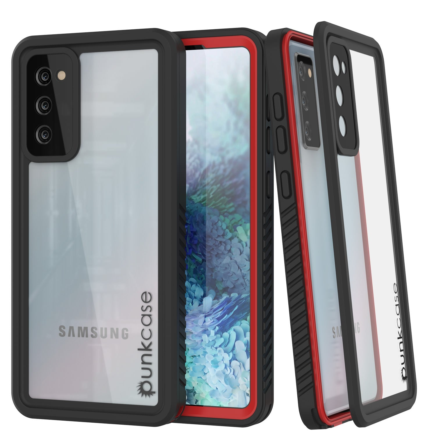 Galaxy S20 FE Water/Shock/Snowproof [Extreme Series] Slim Screen Protector Case [Red]