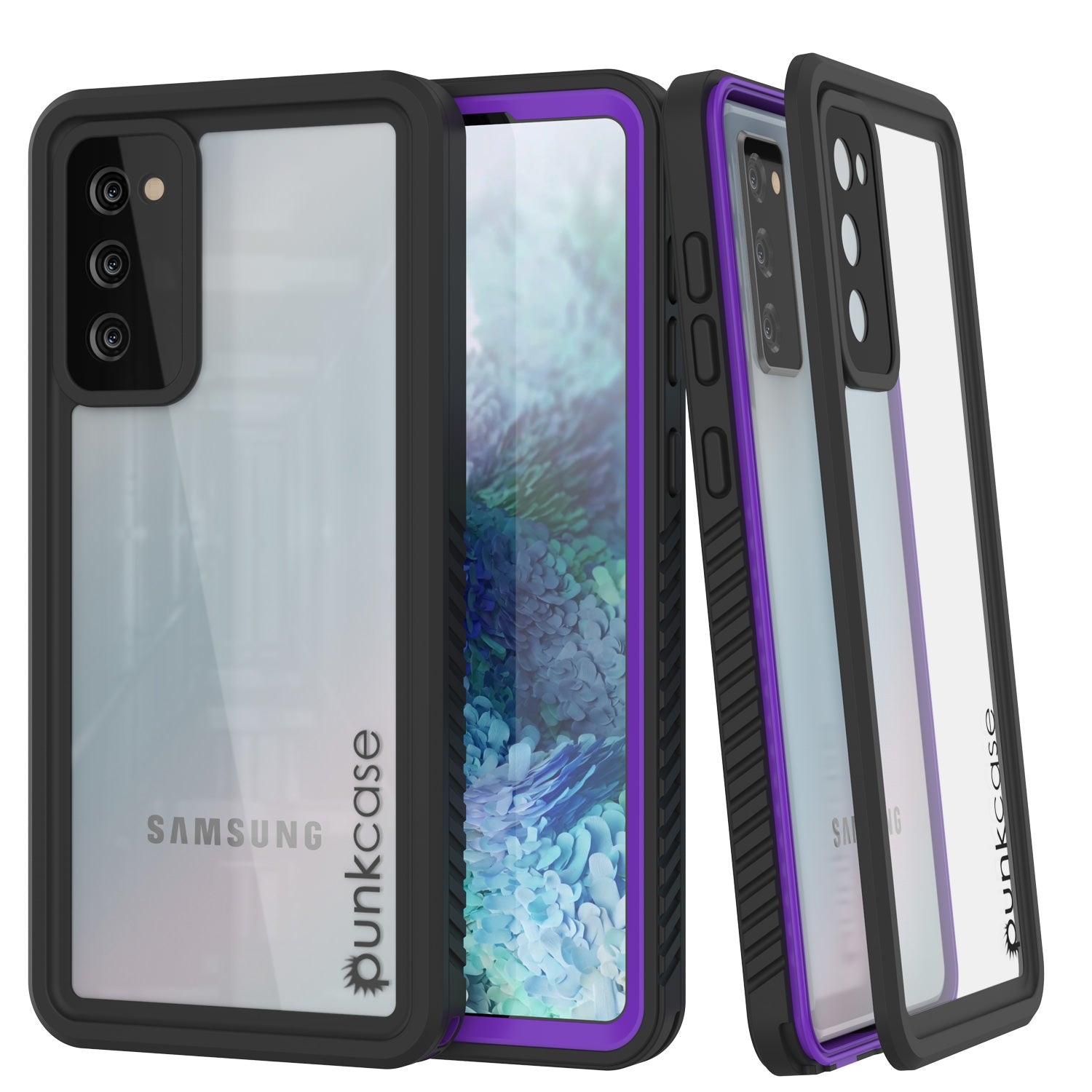 Galaxy S20 FE Water/Shockproof [Extreme Series] Slim Screen Protector Case [Purple]