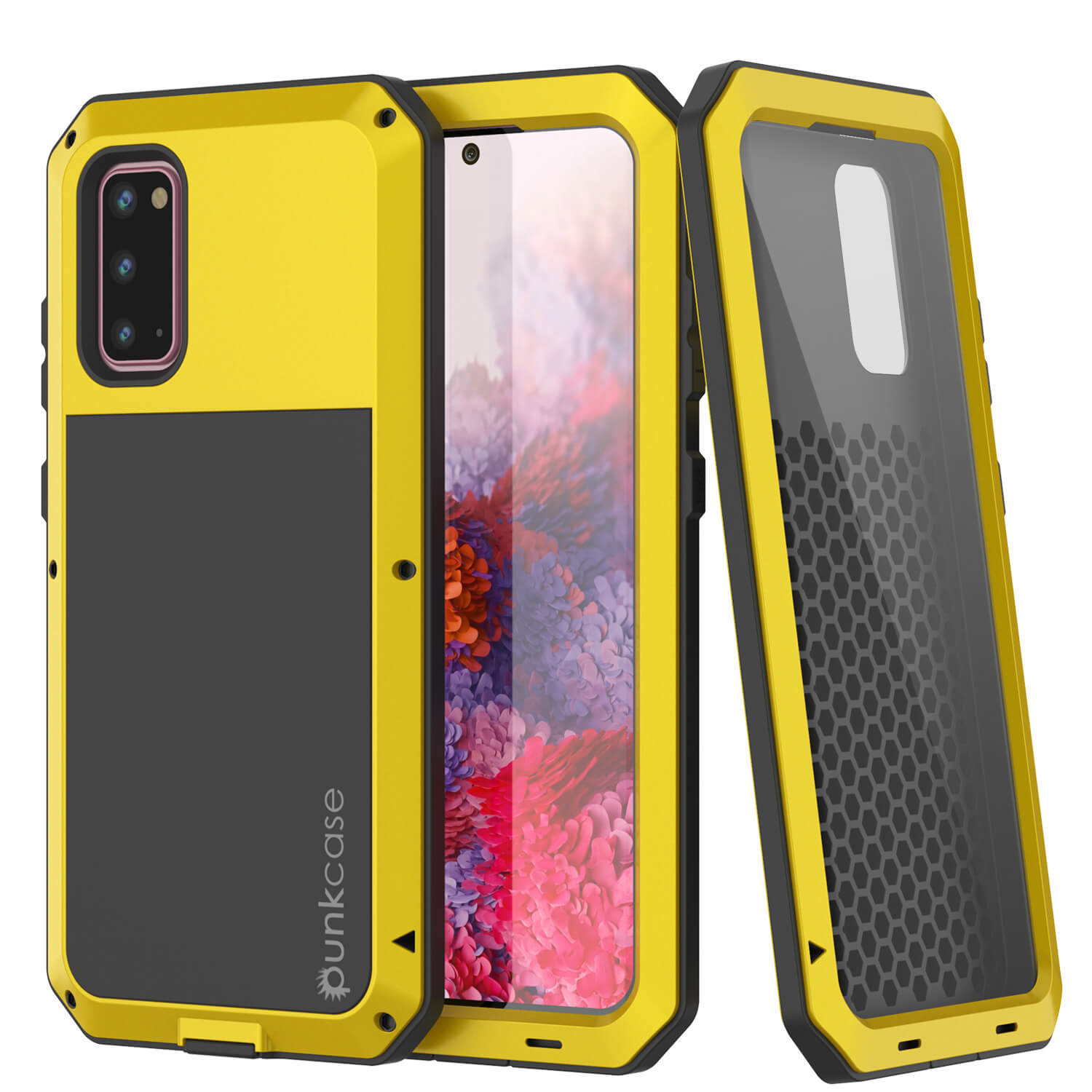 Galaxy s20 Metal Case, Heavy Duty Military Grade Rugged Armor Cover [Neon]