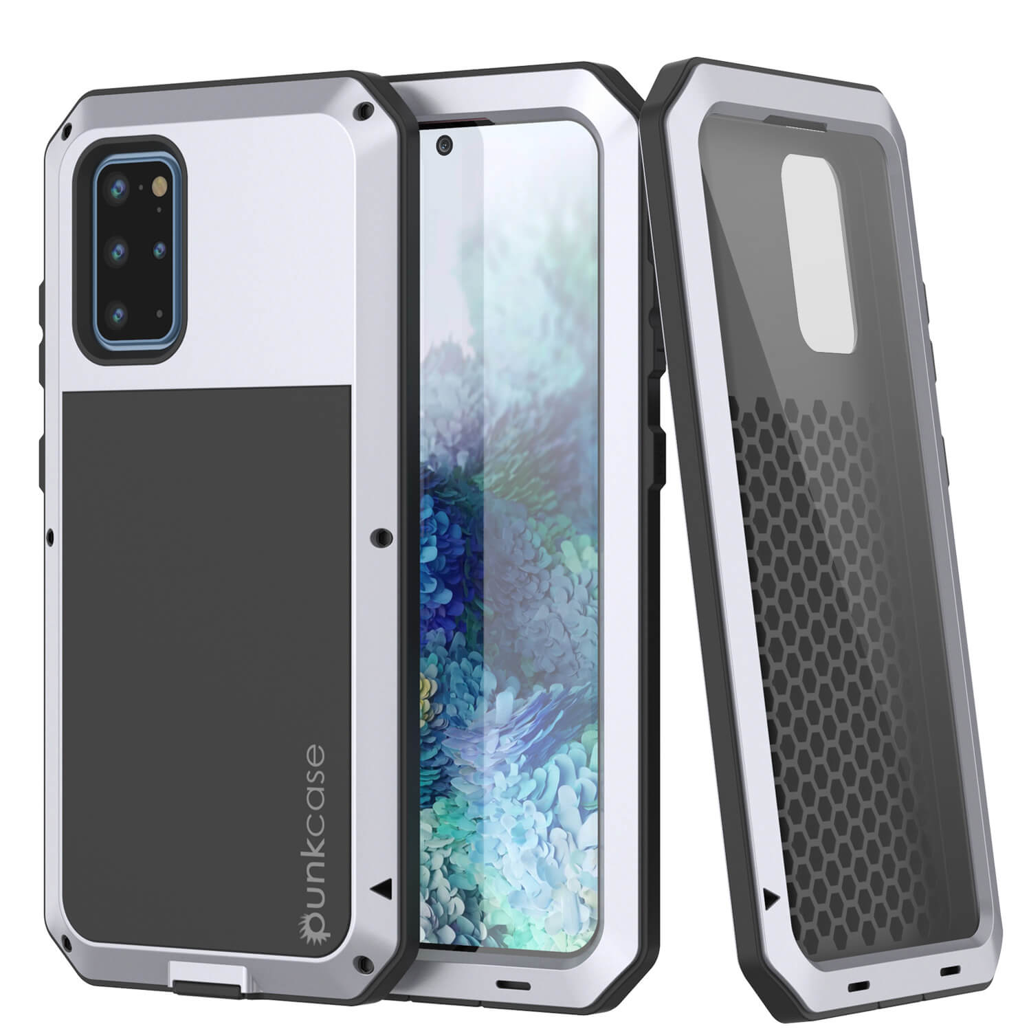 Galaxy s20+ Plus Metal Case, Heavy Duty Military Grade Rugged Armor Cover [White]