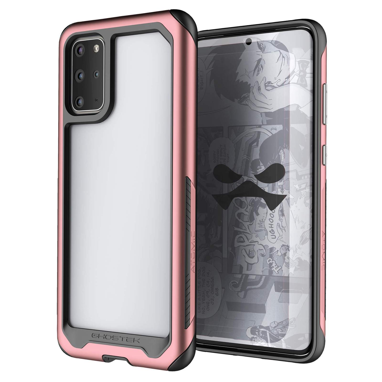 Galaxy S20 Plus Military Grade Aluminum Case | Atomic Slim Series [Pink]