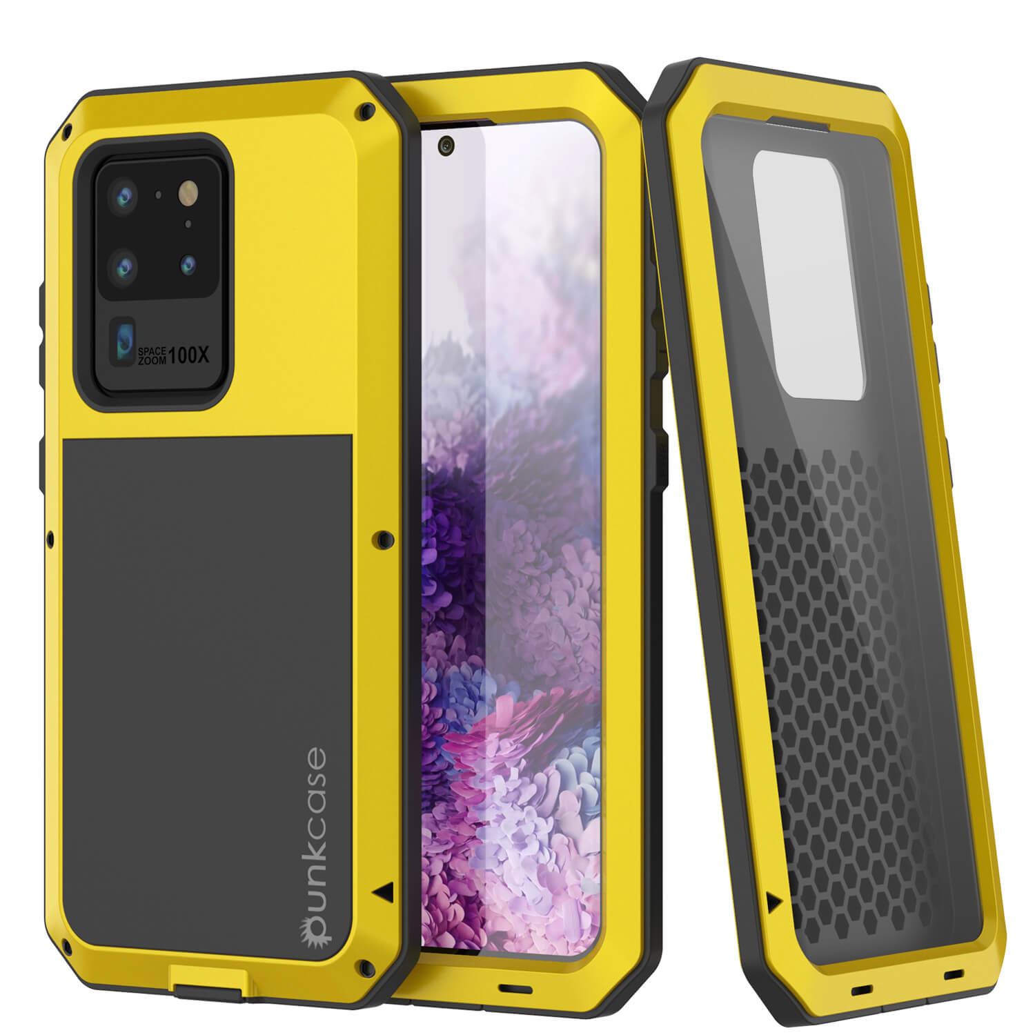 Galaxy S20 Ultra Metal Case, Heavy Duty Military Grade Rugged Armor Cover [Neon]