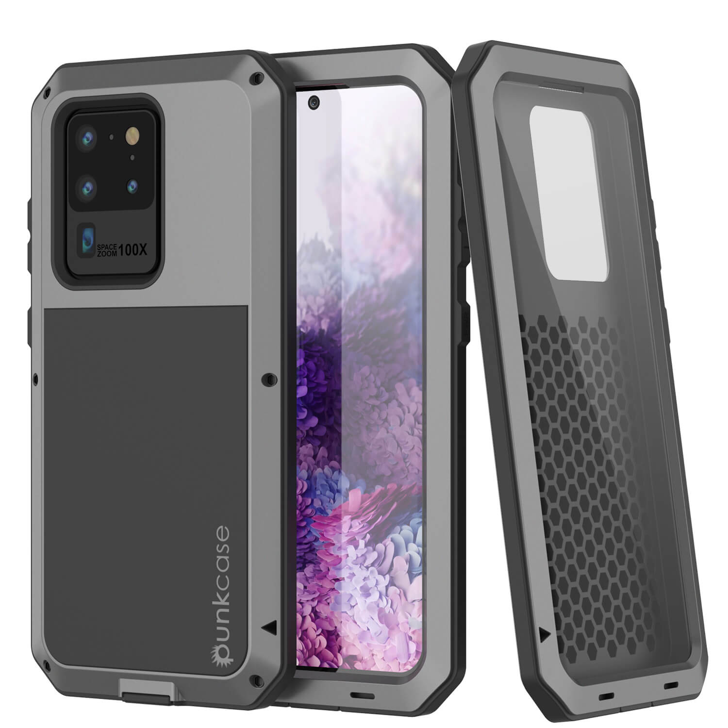Galaxy S20 Ultra Metal Case, Heavy Duty Military Grade Rugged Armor Cover [Silver]