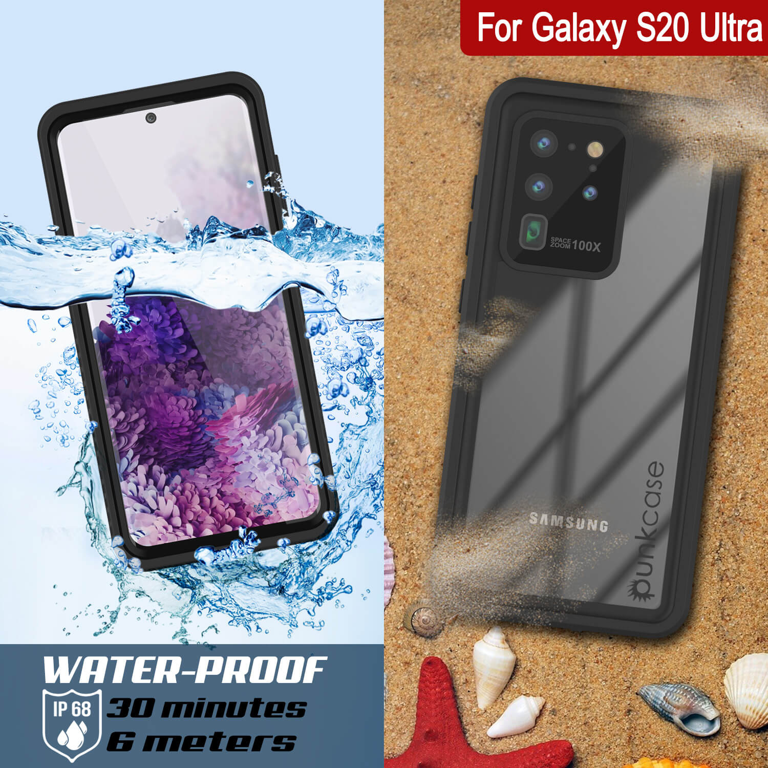 Galaxy S20 Ultra Water/Shockproof [Extreme Series] With Screen Protector Case [Black]