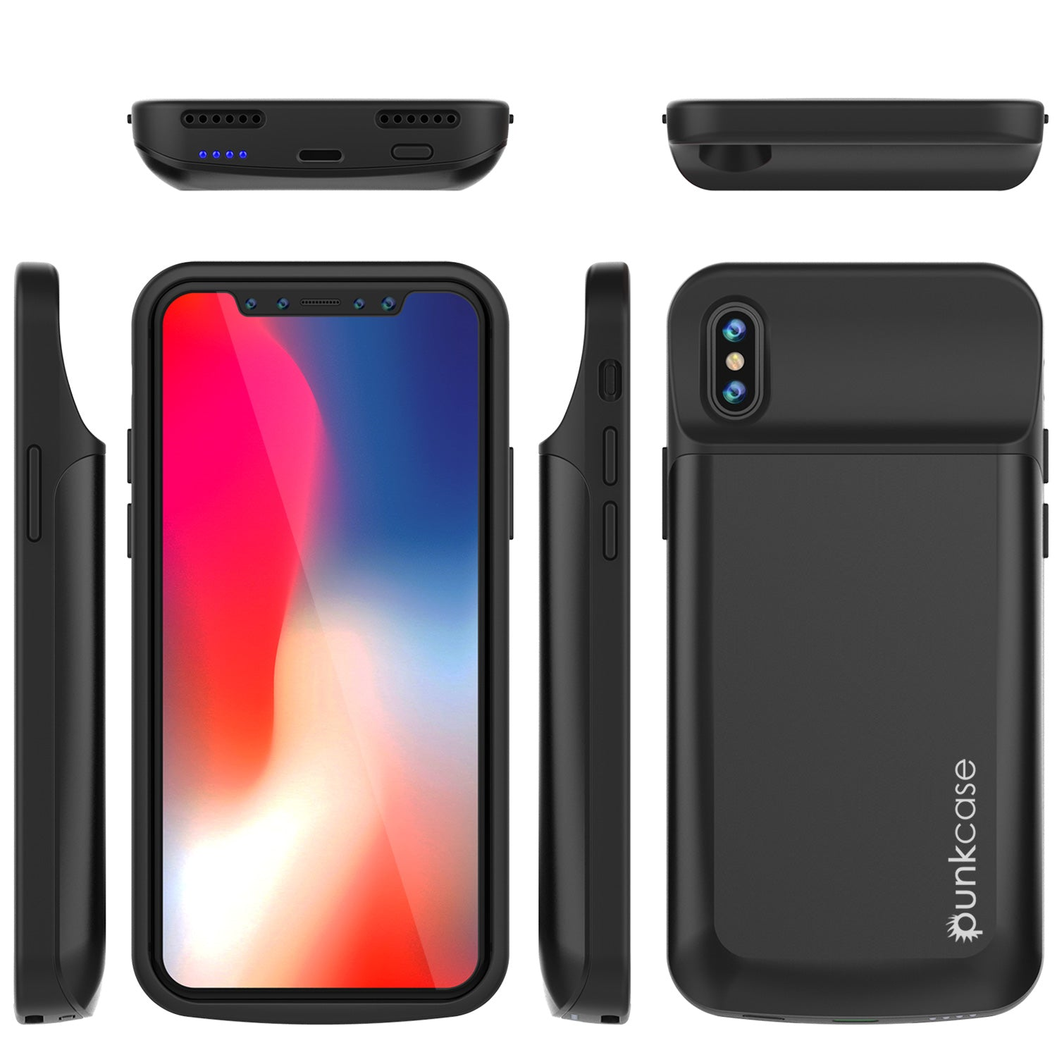 new product 661be d5979 iPhone X Battery Case, PunkJuice 5000mAH Fast Charging Power Bank W/ S