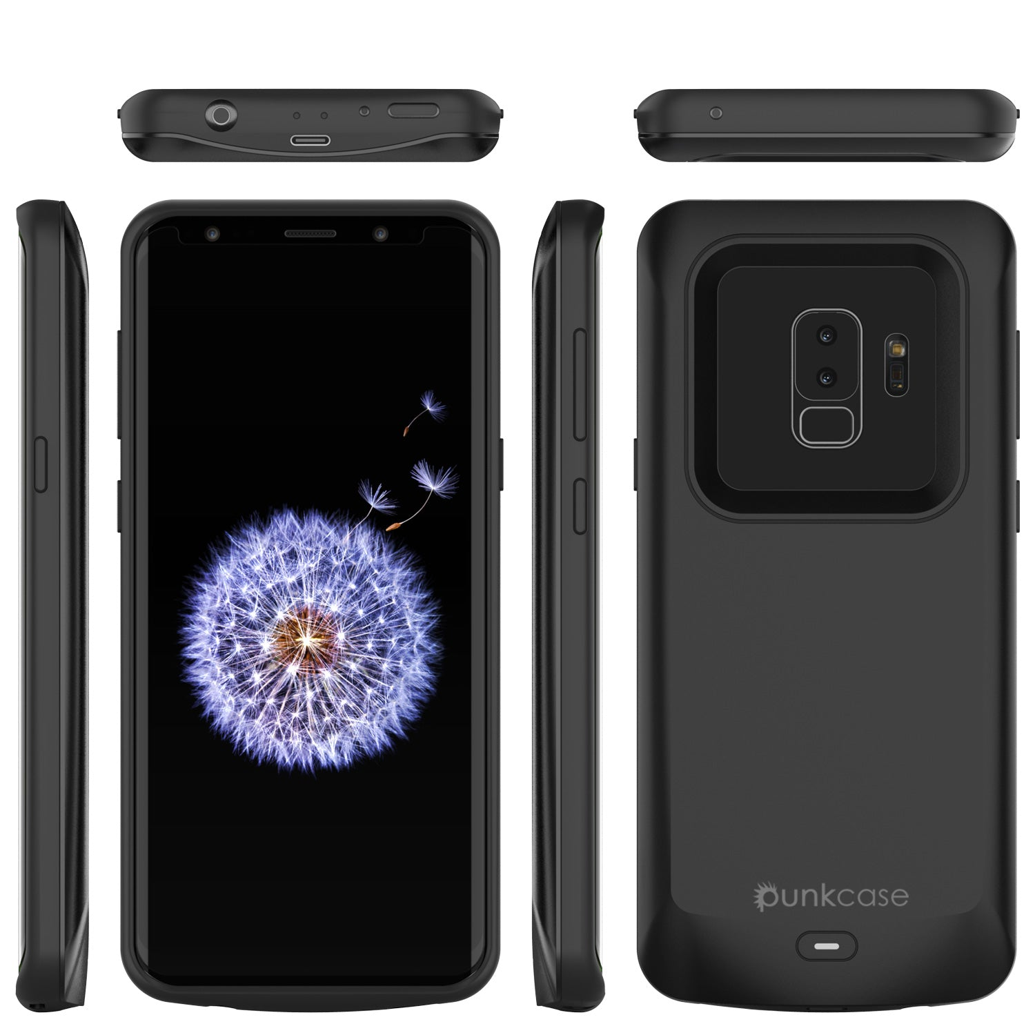 Galaxy S9 PLUS Battery Case, PunkJuice 5000mAH Fast Charging Power Bank Case [Black]
