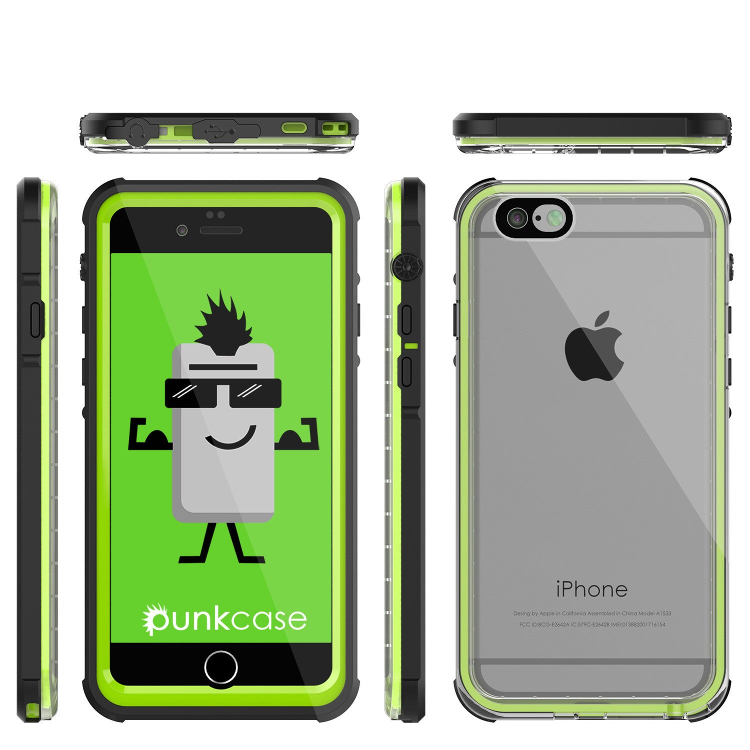 iPhone 6+/6S+ Plus  Waterproof Case, PUNKcase CRYSTAL Light Green  W/ Attached Screen Protector