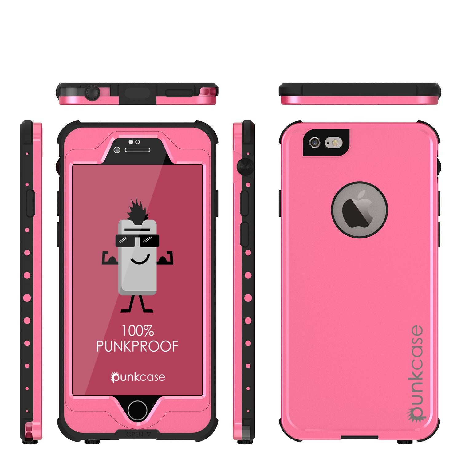 iPhone 6S+/6+ Plus Waterproof Case, PUNKcase StudStar Pink w/ Attached Screen Protector | Warranty