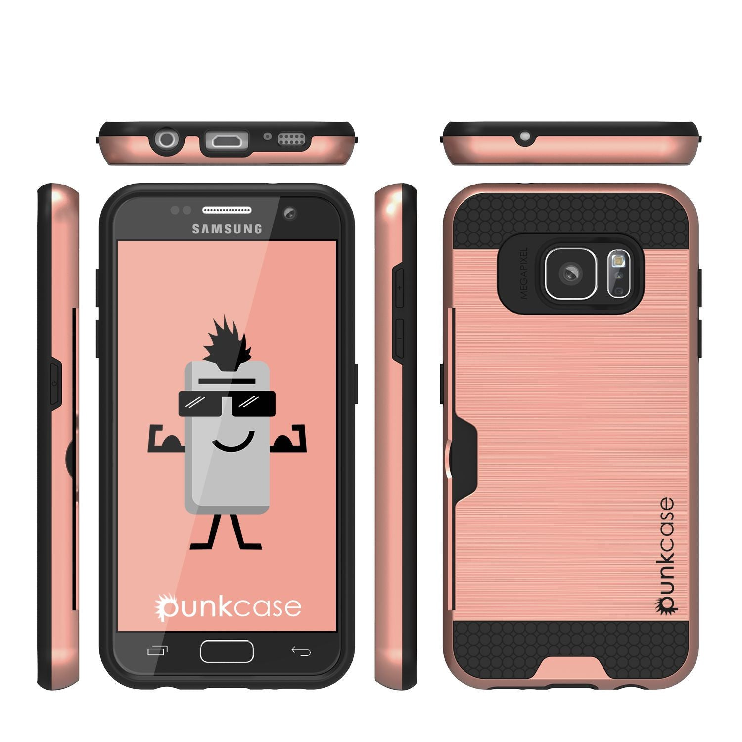 Galaxy s7 EDGE Case PunkCase SLOT Rose Series Slim Armor Soft Cover Case