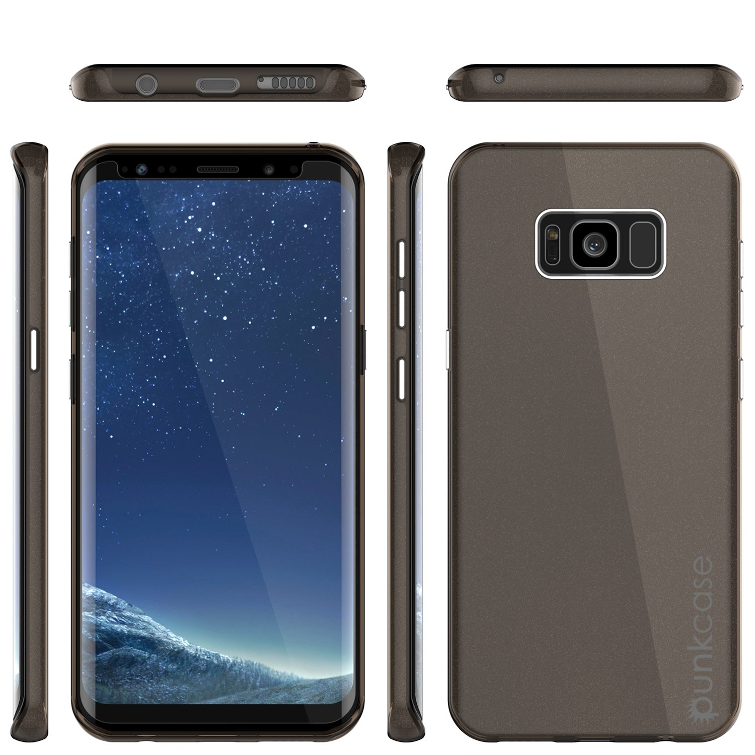 Galaxy S8 Plus Case, Punkcase Galactic 2.0 Series Ultra Slim Protective Armor TPU Cover [Black]