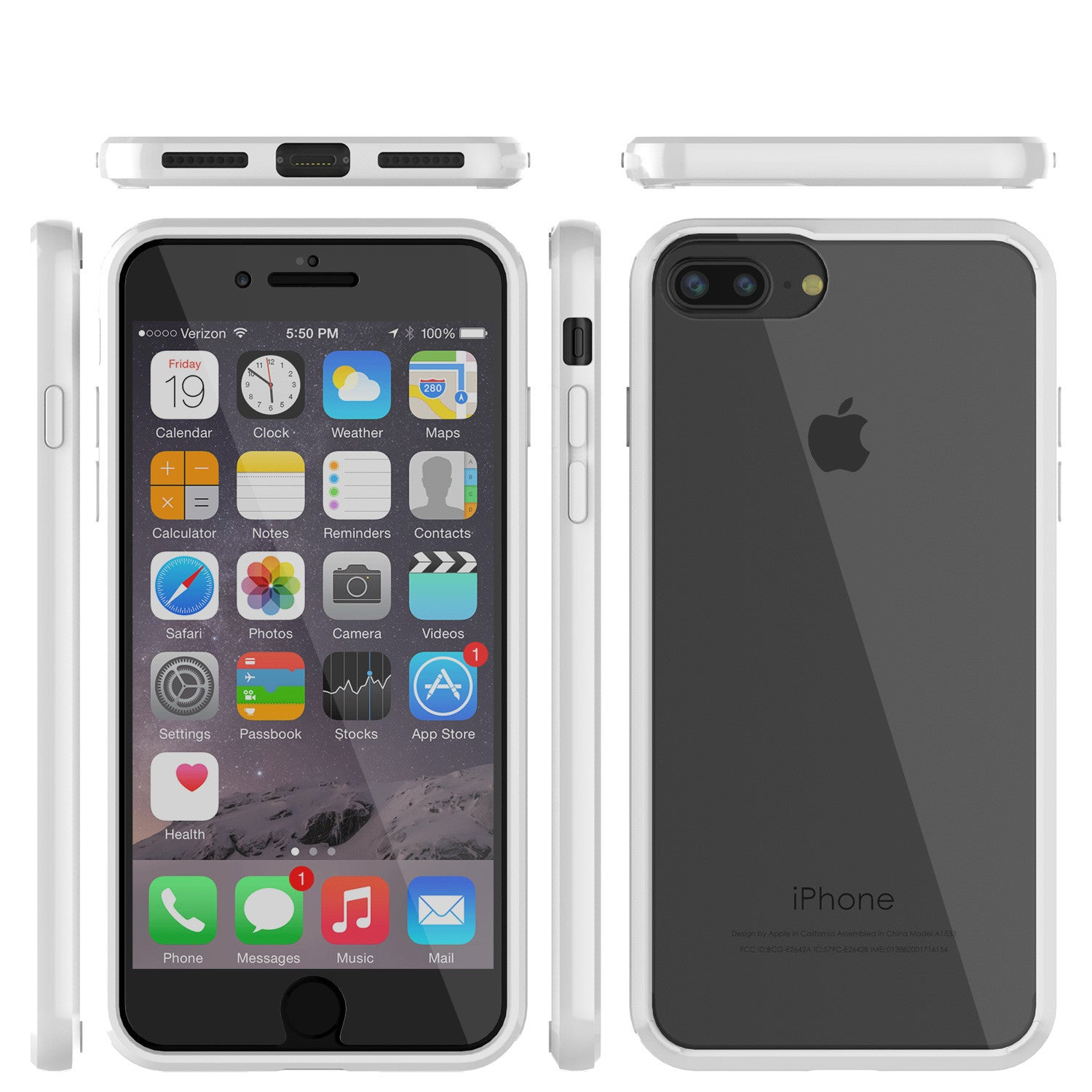 iPhone 7+ Plus Case Punkcase® LUCID 2.0 White Series w/ PUNK SHIELD Screen Protector | Ultra Fit