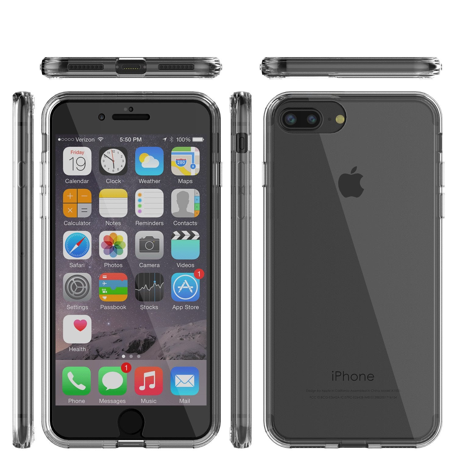 iPhone 8 Case Punkcase® LUCID 2.0 Clear Series Series w/ PUNK SHIELD Screen Protector | Ultra Fit