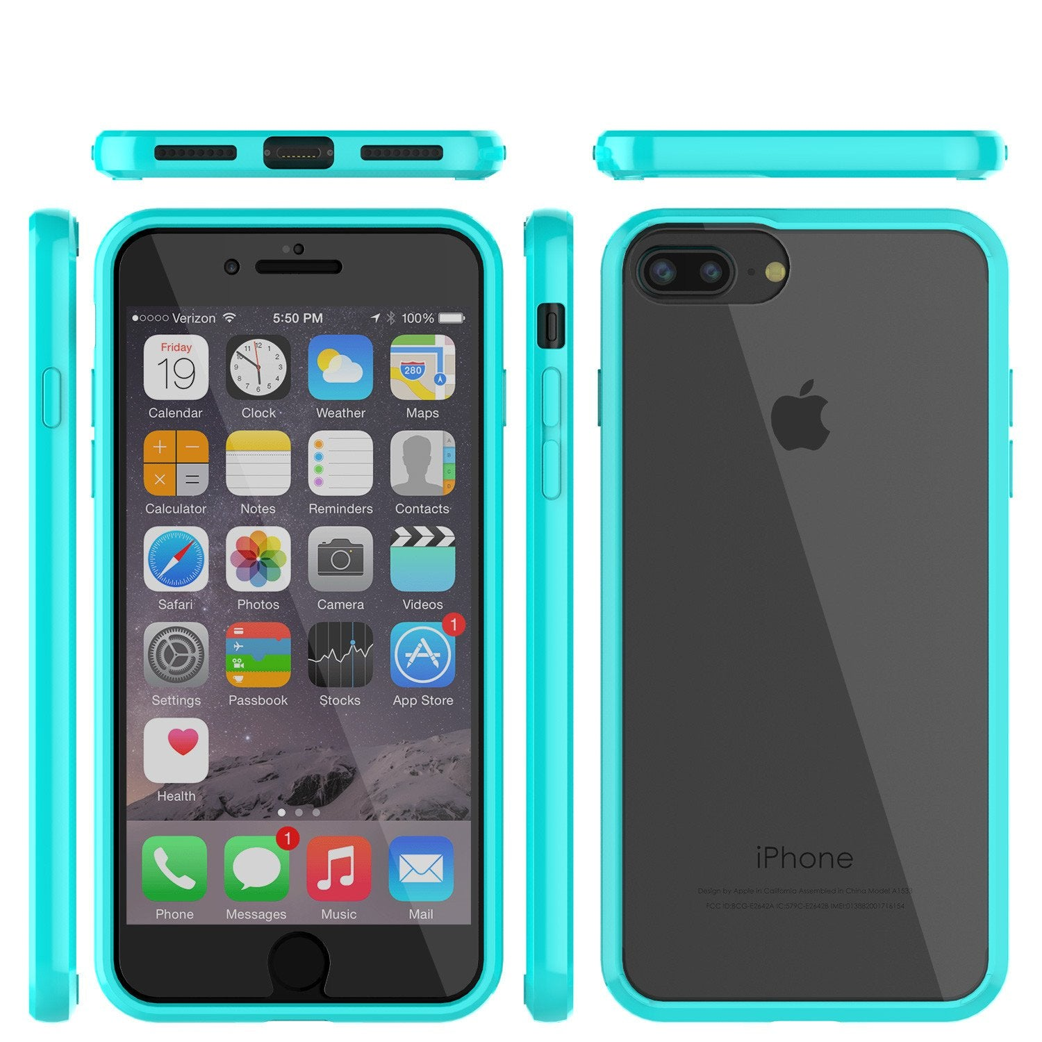 iPhone 8 Case Punkcase® LUCID 2.0 Teal Series w/ PUNK SHIELD Screen Protector | Ultra Fit