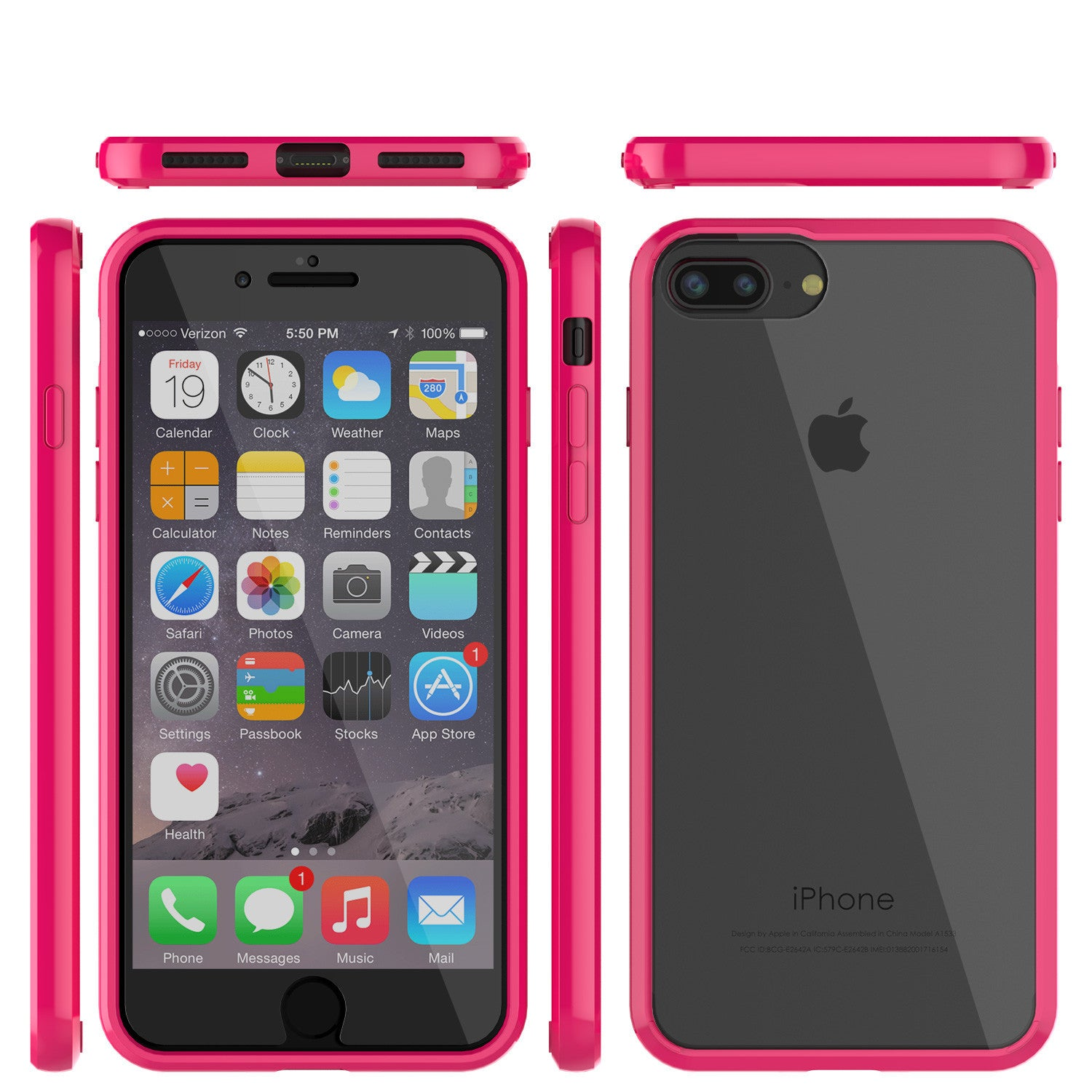 iPhone 7+ Plus Case Punkcase® LUCID 2.0 Pink Series w/ PUNK SHIELD Screen Protector | Ultra Fit