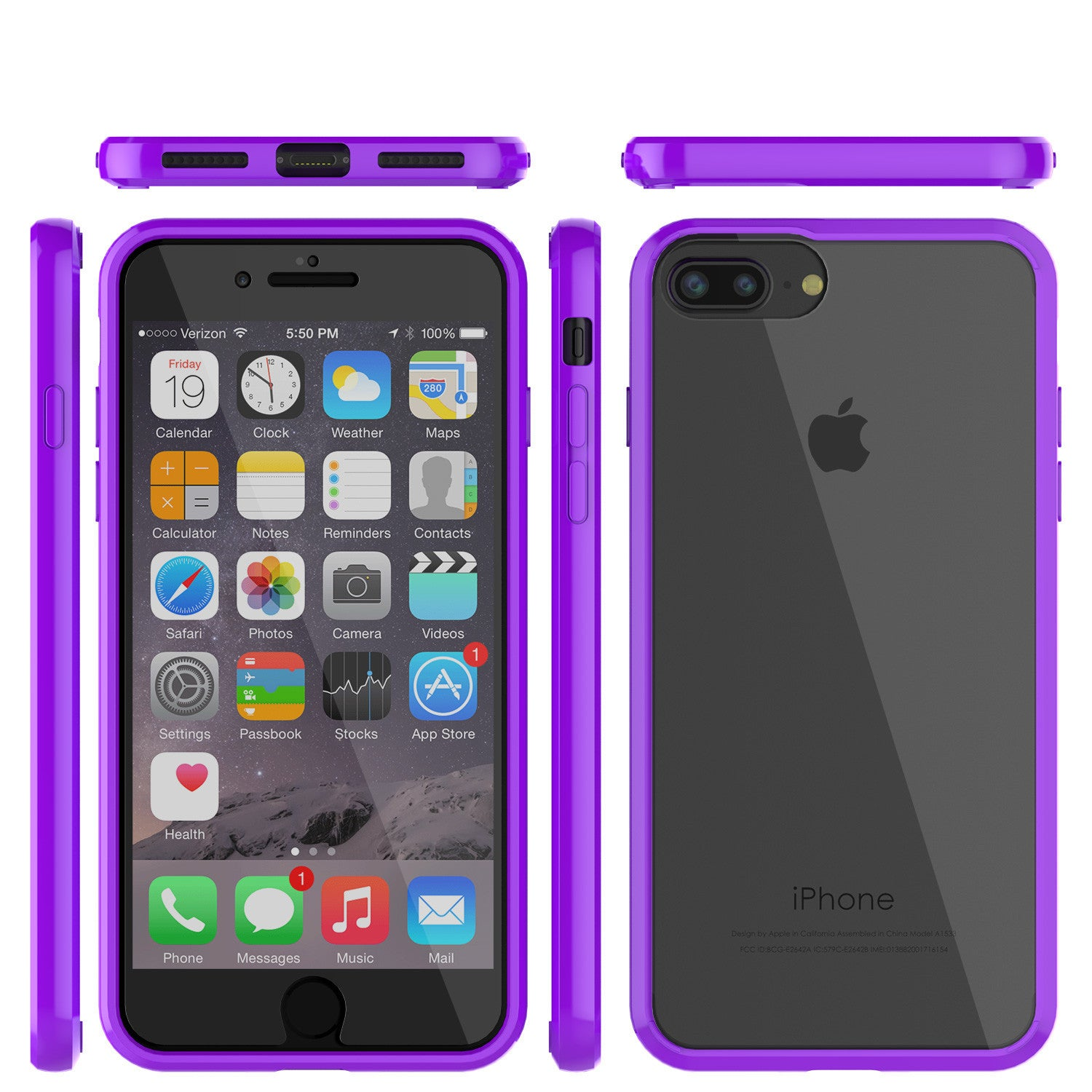 iPhone 7+ Plus Case Punkcase® LUCID 2.0 Purple Series w/ PUNK SHIELD Screen Protector | Ultra Fit