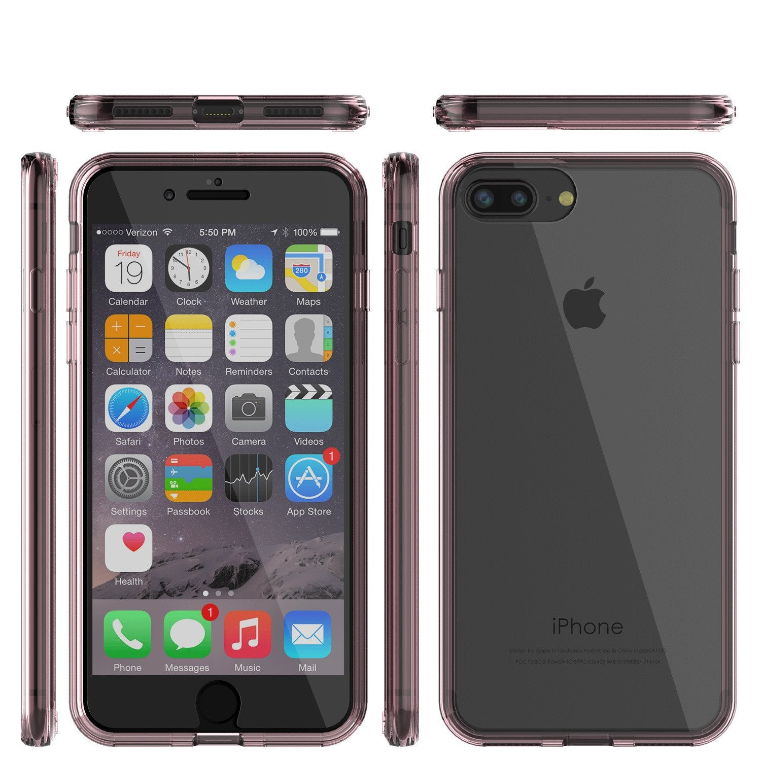 iPhone 8+ Plus Case Punkcase® LUCID 2.0 Crystal Pink Series w/ SHIELD Screen Protector | Ultra Fit