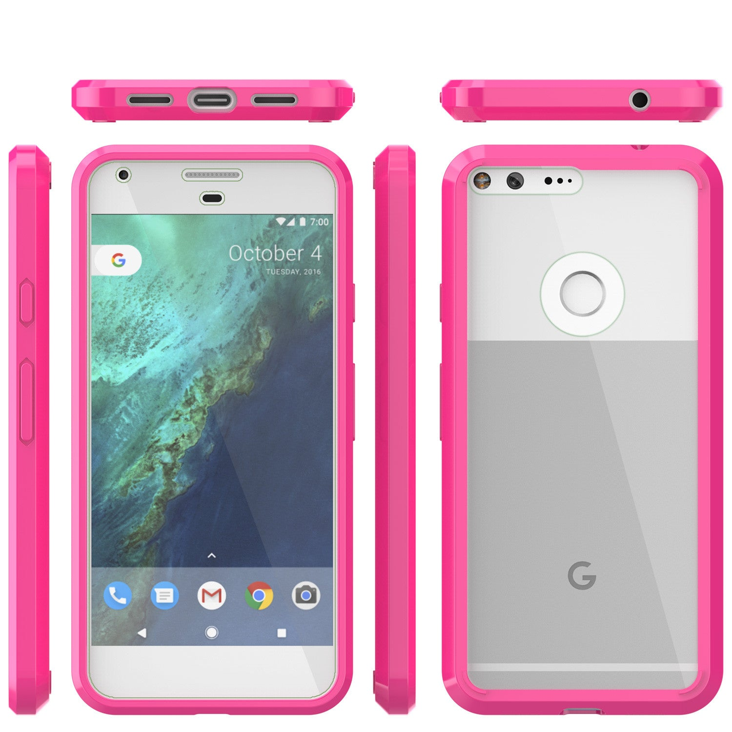Google Pixel Case Punkcase® LUCID 2.0 Pink Series w/ PUNK SHIELD Glass Screen Protector | Ultra Fit