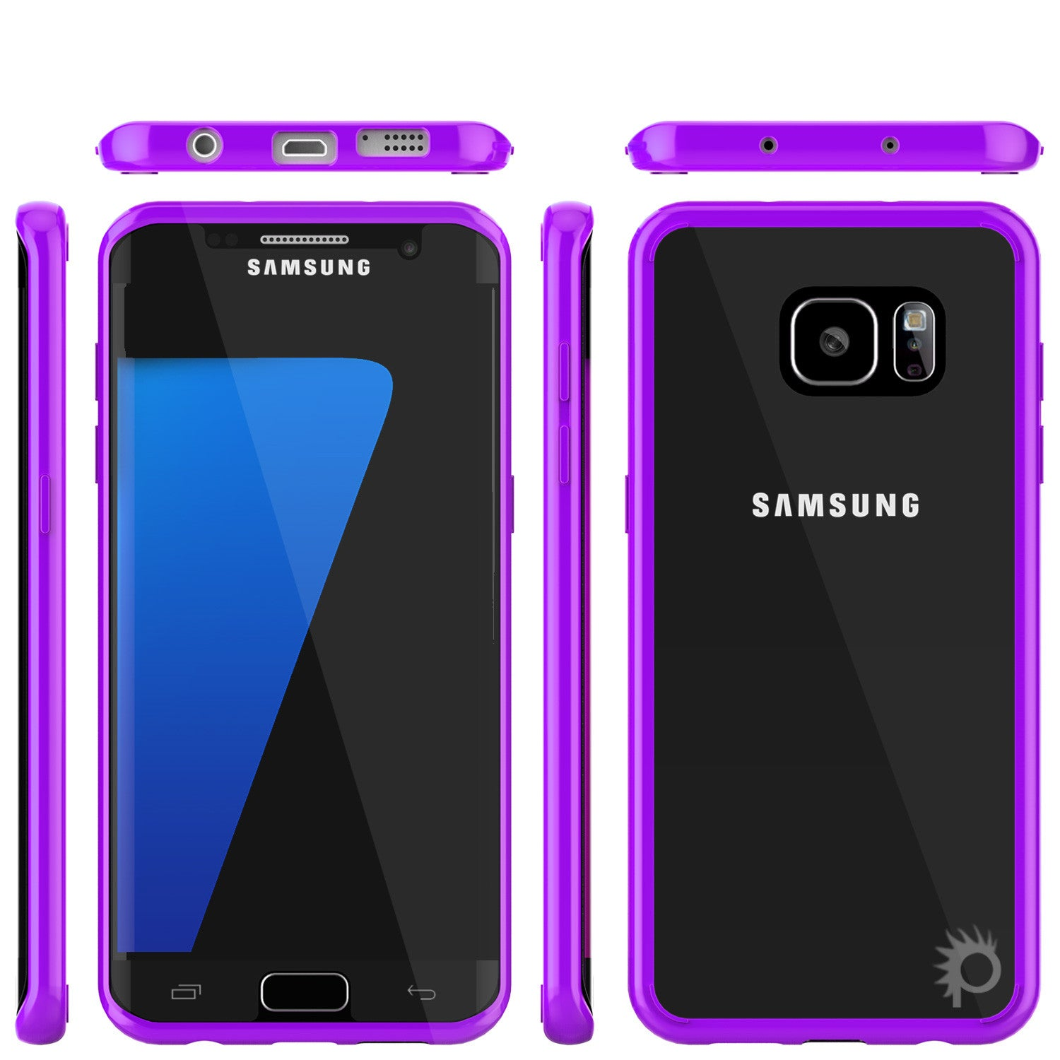 S7 Edge Case Punkcase® LUCID 2.0 Purple Series w/ PUNK SHIELD Screen Protector | Ultra Fit