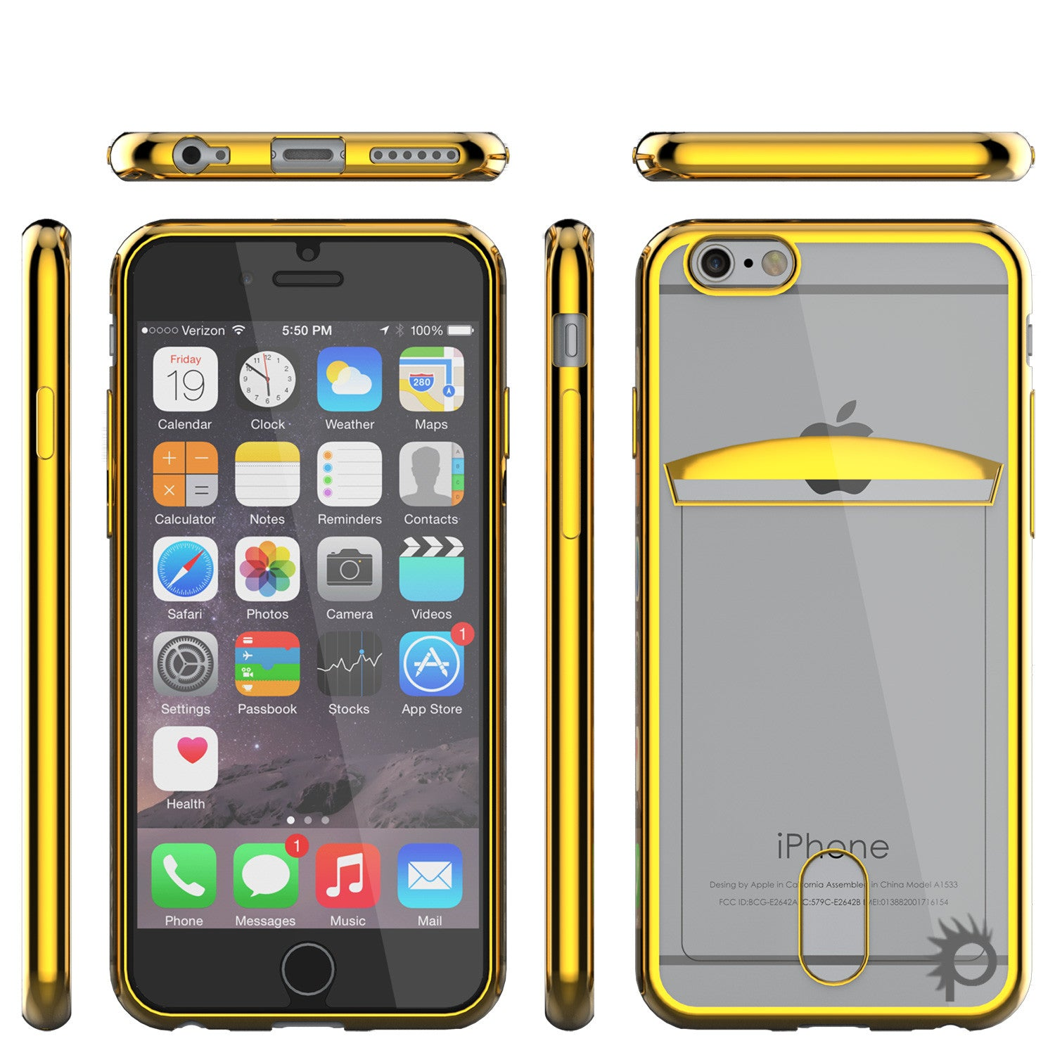 iPhone 6s/6 Case, PUNKCASE® LUCID Gold Series | Card Slot | SHIELD Screen Protector | Ultra fit