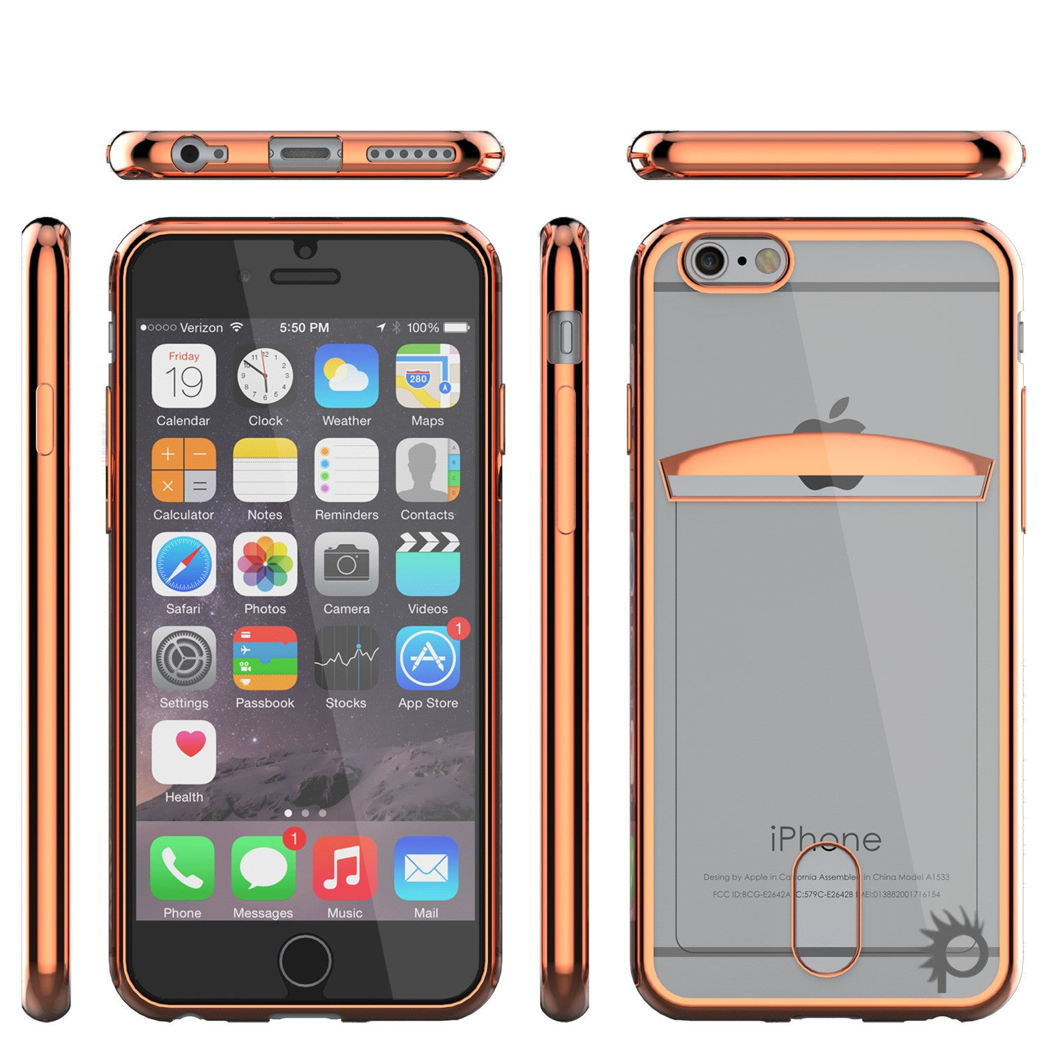 iPhone 6s/6 Case, PUNKCASE® LUCID Rose Gold Series | Card Slot | SHIELD Screen Protector | Ultra fit