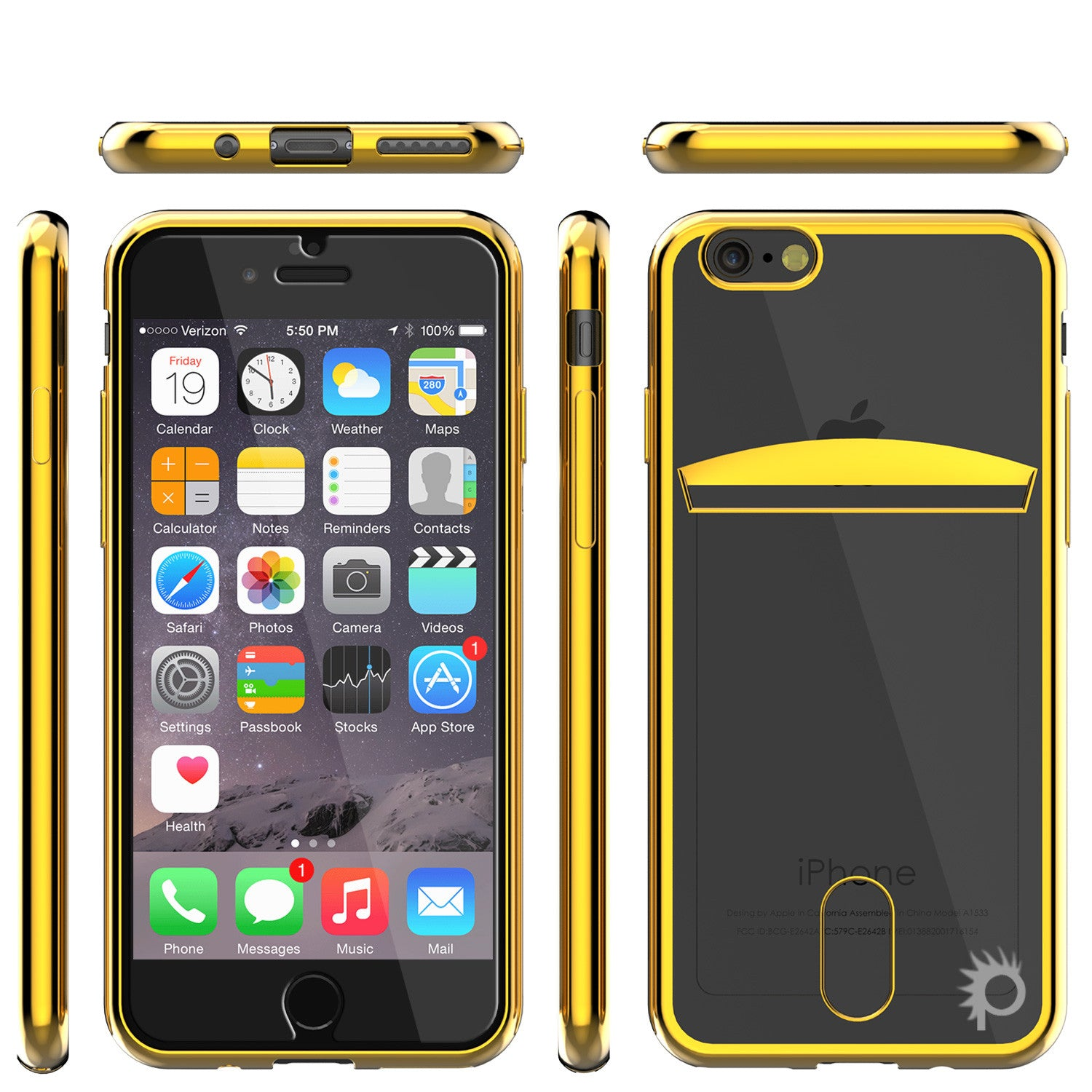 iPhone 7 Case, PUNKCASE® LUCID Gold Series | Card Slot | SHIELD Screen Protector | Ultra fit