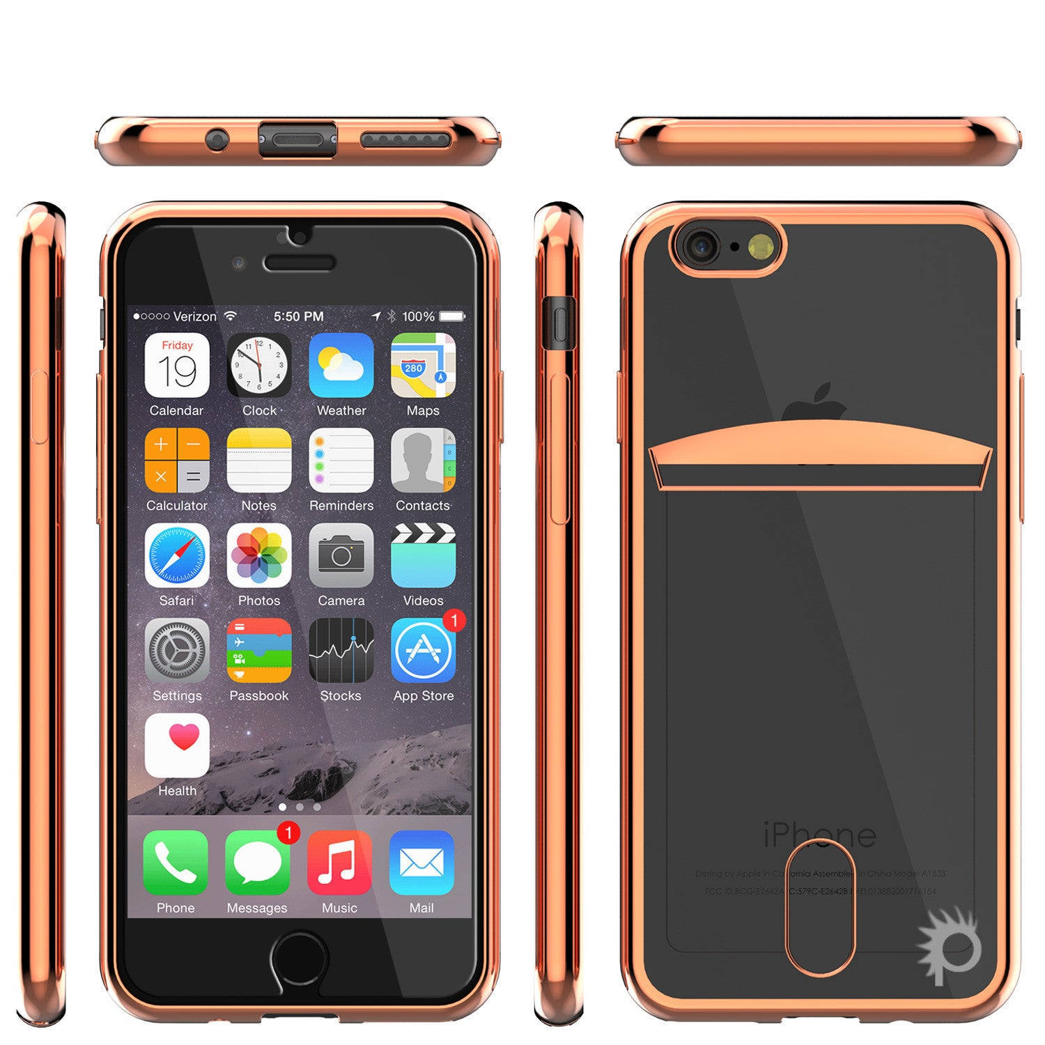 iPhone 7+ Plus Case, PUNKCASE® LUCID Rose Gold Series | Card Slot | SHIELD Screen Protector | Ultra fit