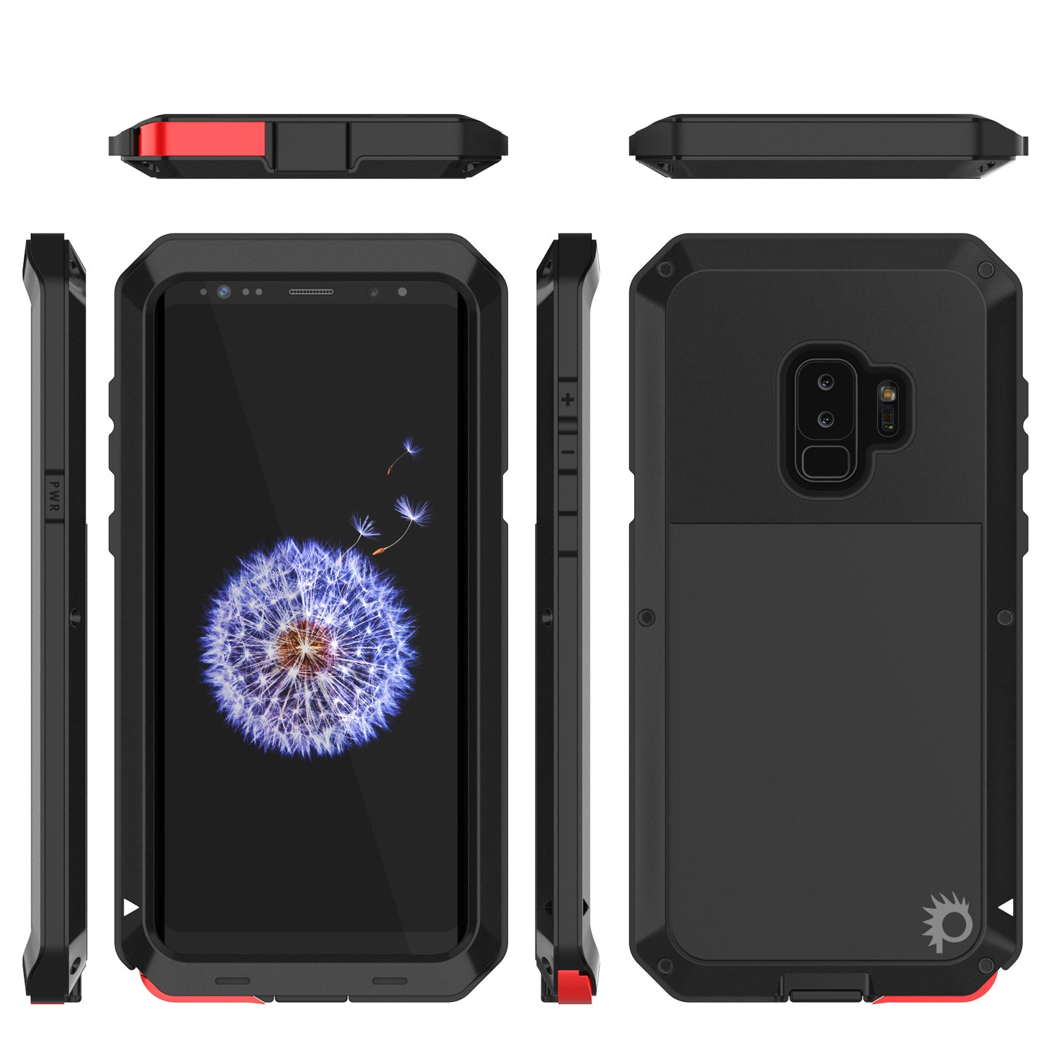 Galaxy S9 Plus Metal Case, Heavy Duty Military Grade Rugged Armor Cover [Black]