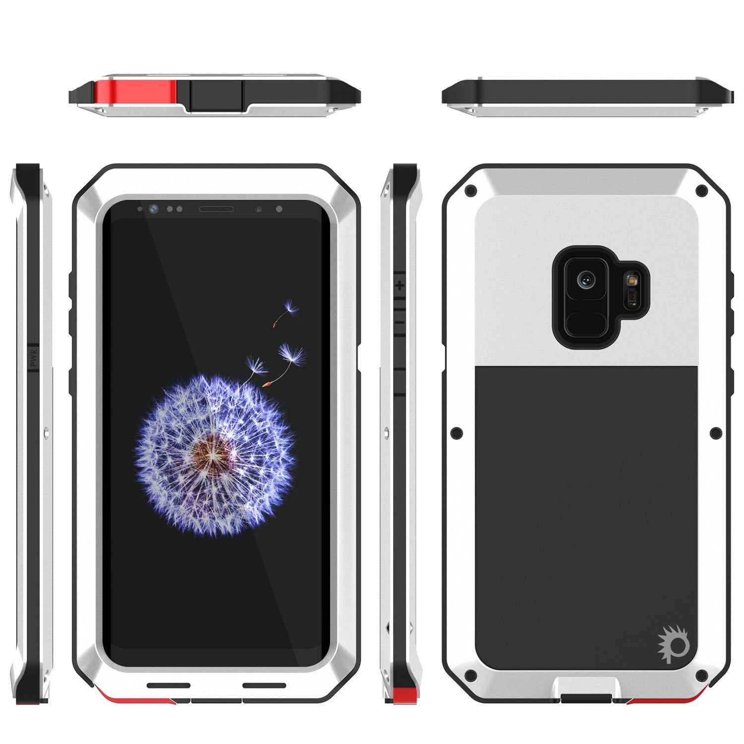 Galaxy S9 Metal Case, Heavy Duty Military Grade Rugged Armor Cover [White]
