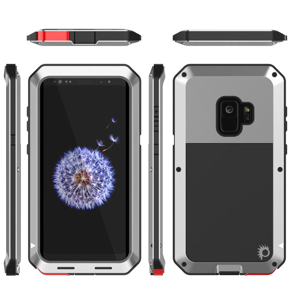 galaxy s9 metal case heavy duty military grade rugged. Black Bedroom Furniture Sets. Home Design Ideas