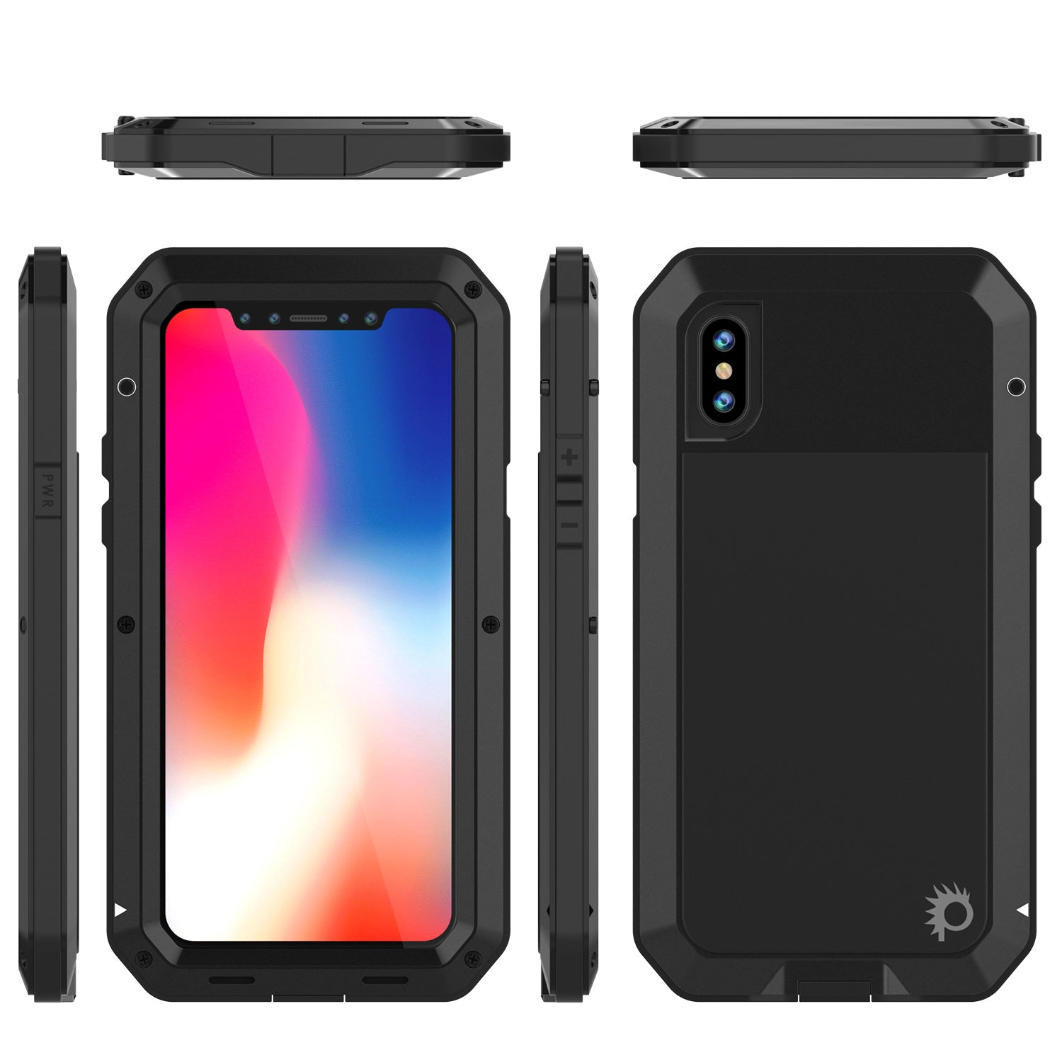 the latest 40e7c 30e4d iPhone X Metal Case, Heavy Duty Military Grade Rugged Armor Cover ...