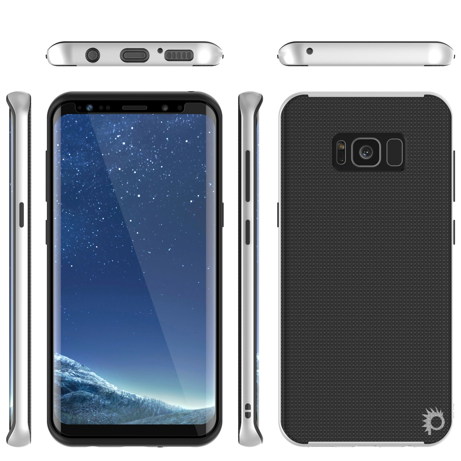 Galaxy S8 Case, PunkCase Stealth White Series Hybrid 3-Piece Shockproof Dual Layer Cover