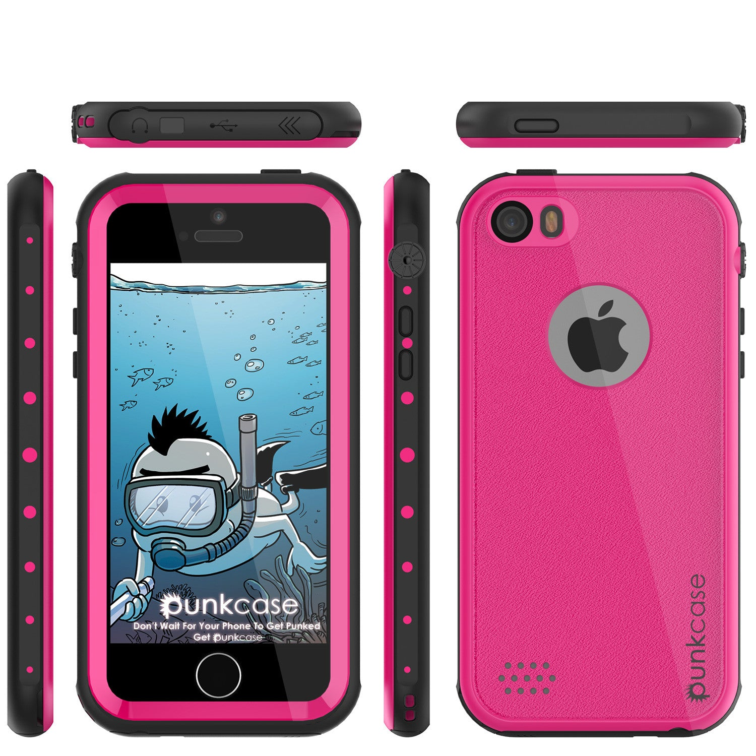 iPhone SE/5S/5 Waterproof Case, PunkCase StudStar Pink  Shock/Dirt/Snow Proof | Lifetime Warranty