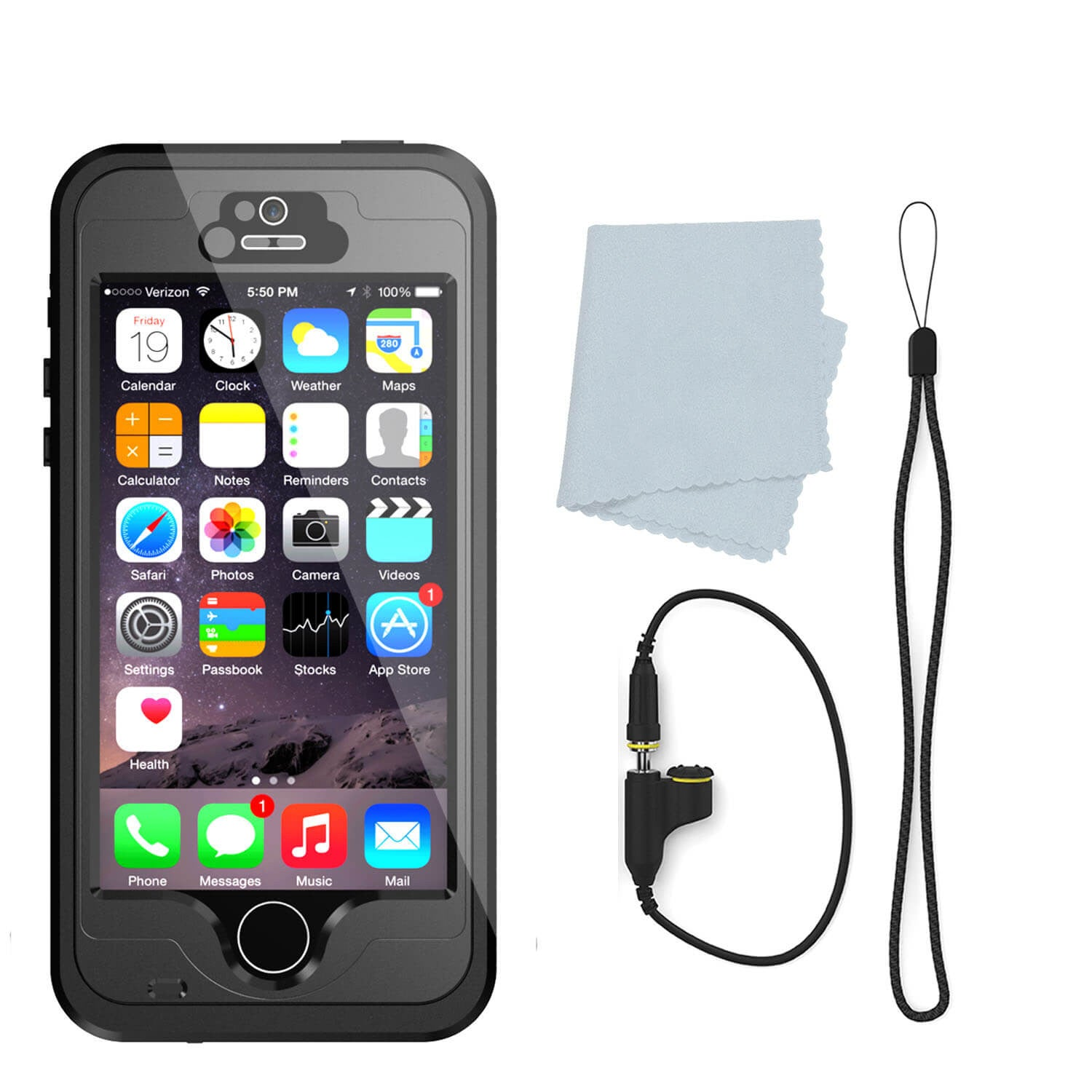 waterproof cases for iphone 5s punkcase studstar black apple iphone 5s 5 waterproof 1211
