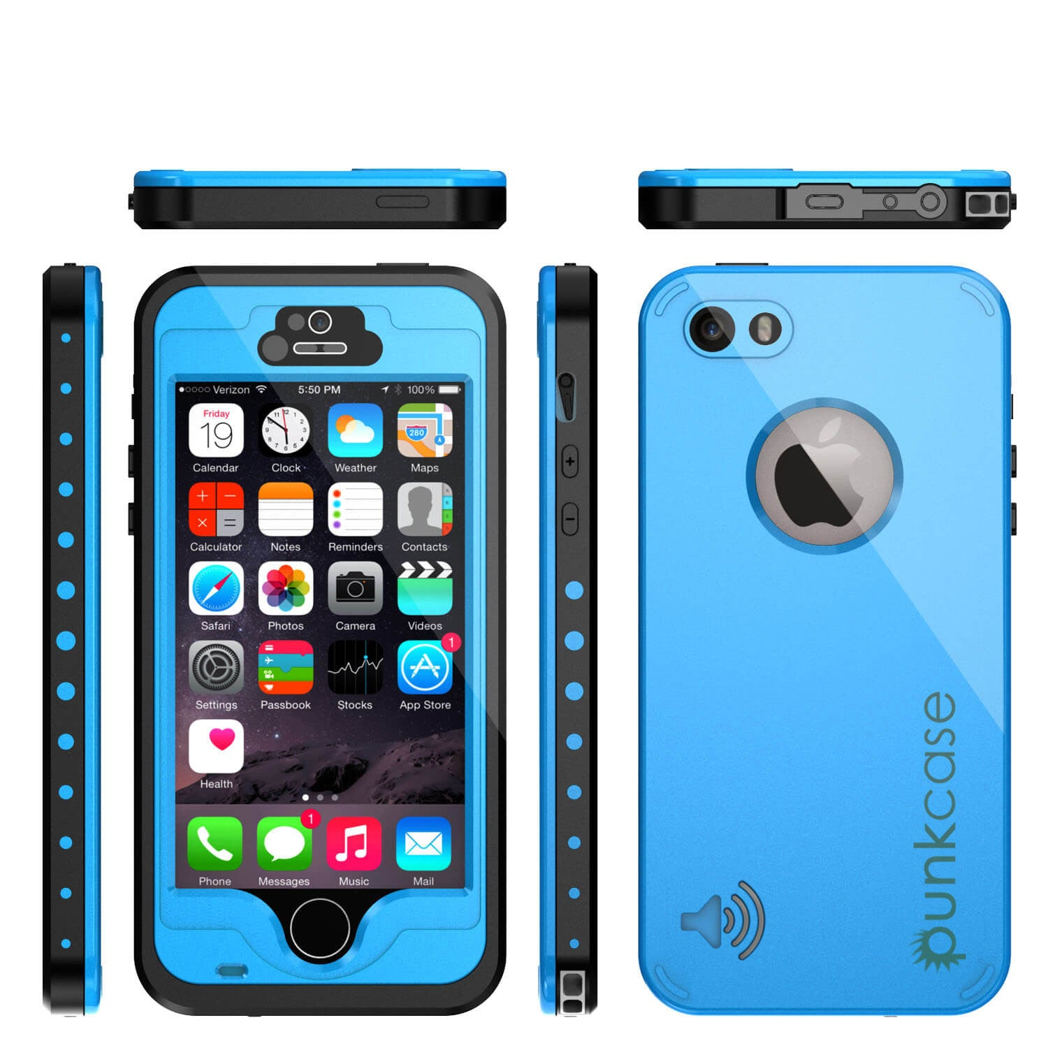 underwater iphone 5 case punkcase studstar light blue apple iphone 5s 5 waterproof 8385