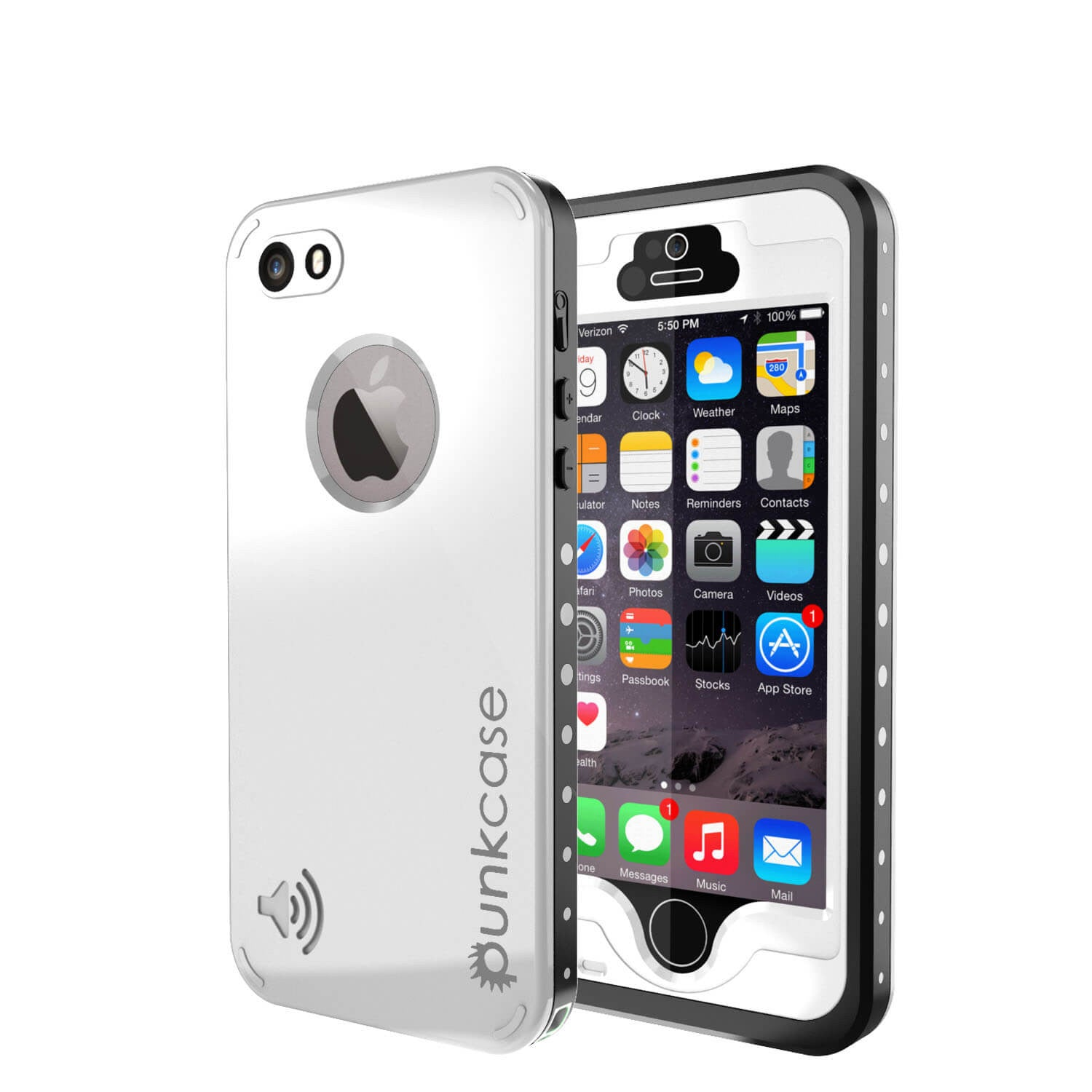 iPhone 5S/5 Waterproof Case, PunkCase StudStar White Case Water/Shock/Dirt Proof | Lifetime Warranty