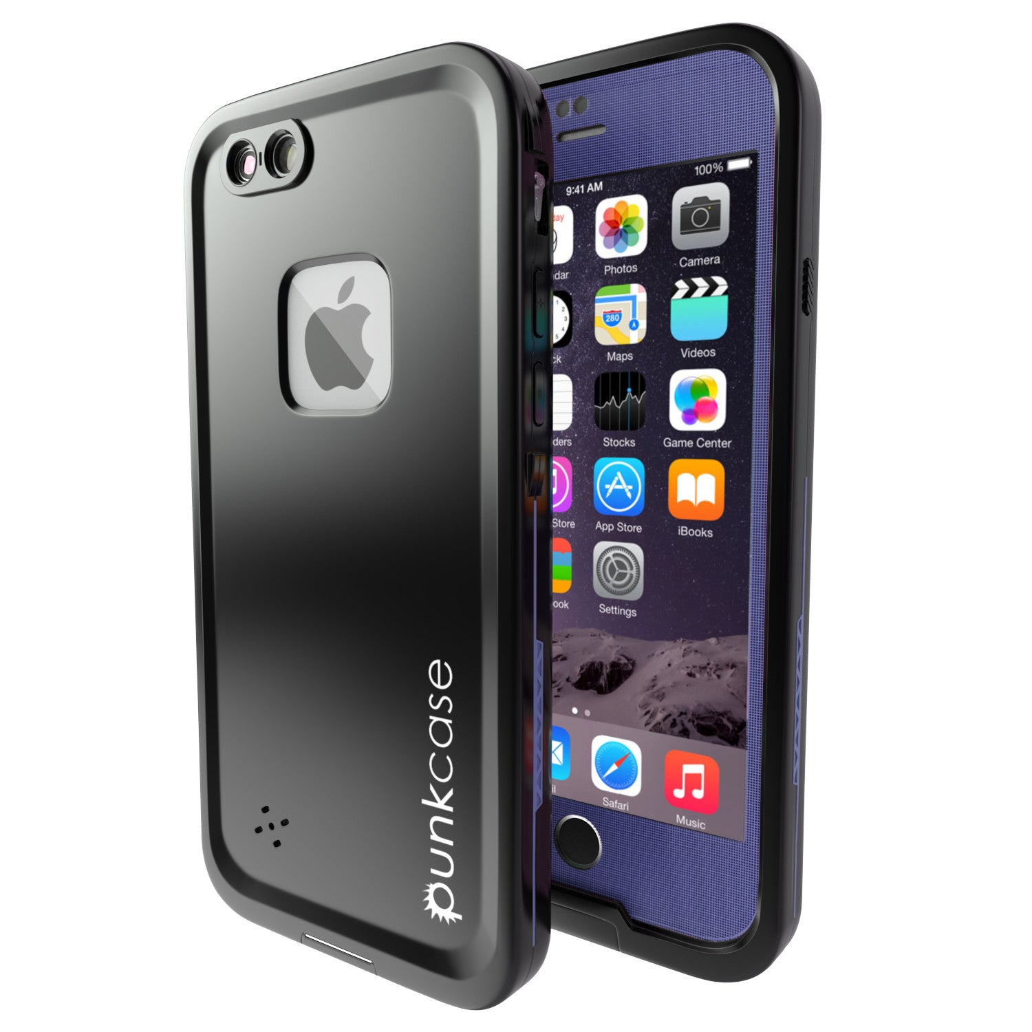 iPhone 6S+/6+ Plus Waterproof Case, Punkcase SpikeStar Purple Thin Fit 6.6ft Underwater IP68